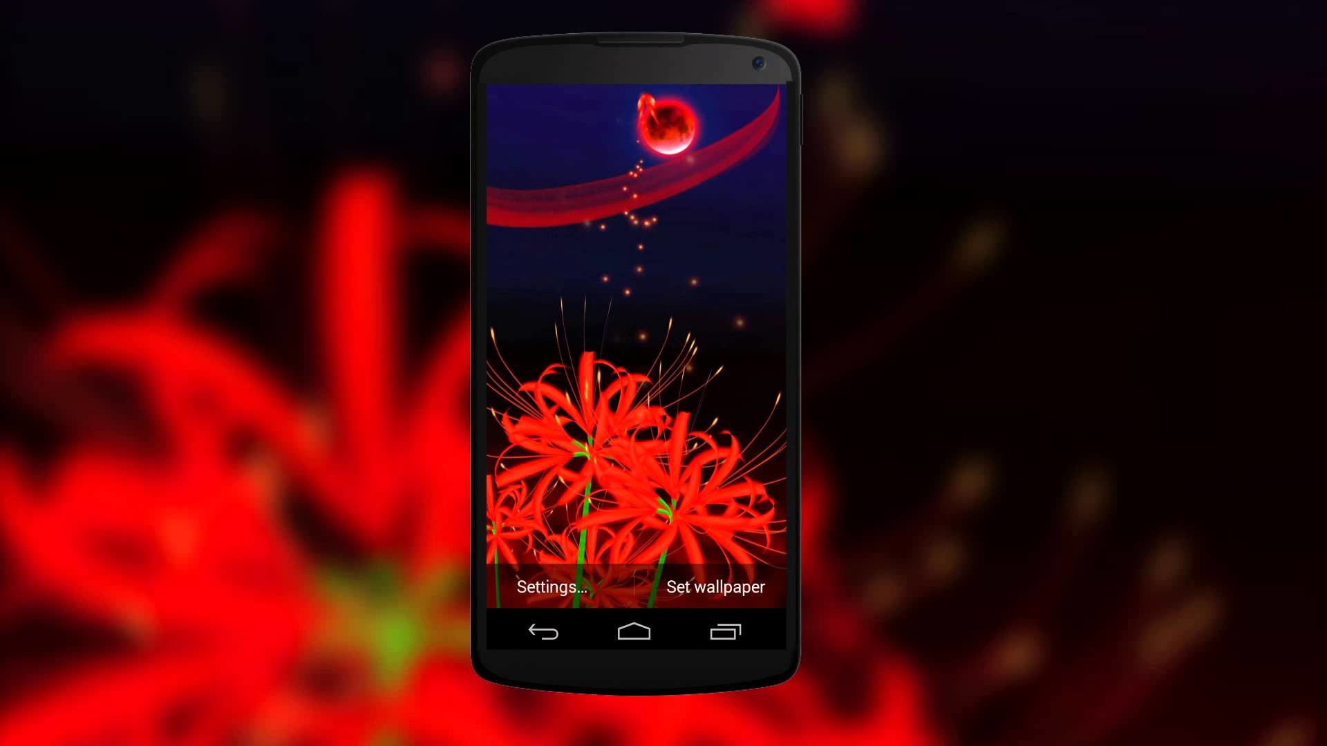 Res: 1920x1080, Gorgeous 3D Live Wallpaper of Red Butterflies & Red Spider Lily Flowers