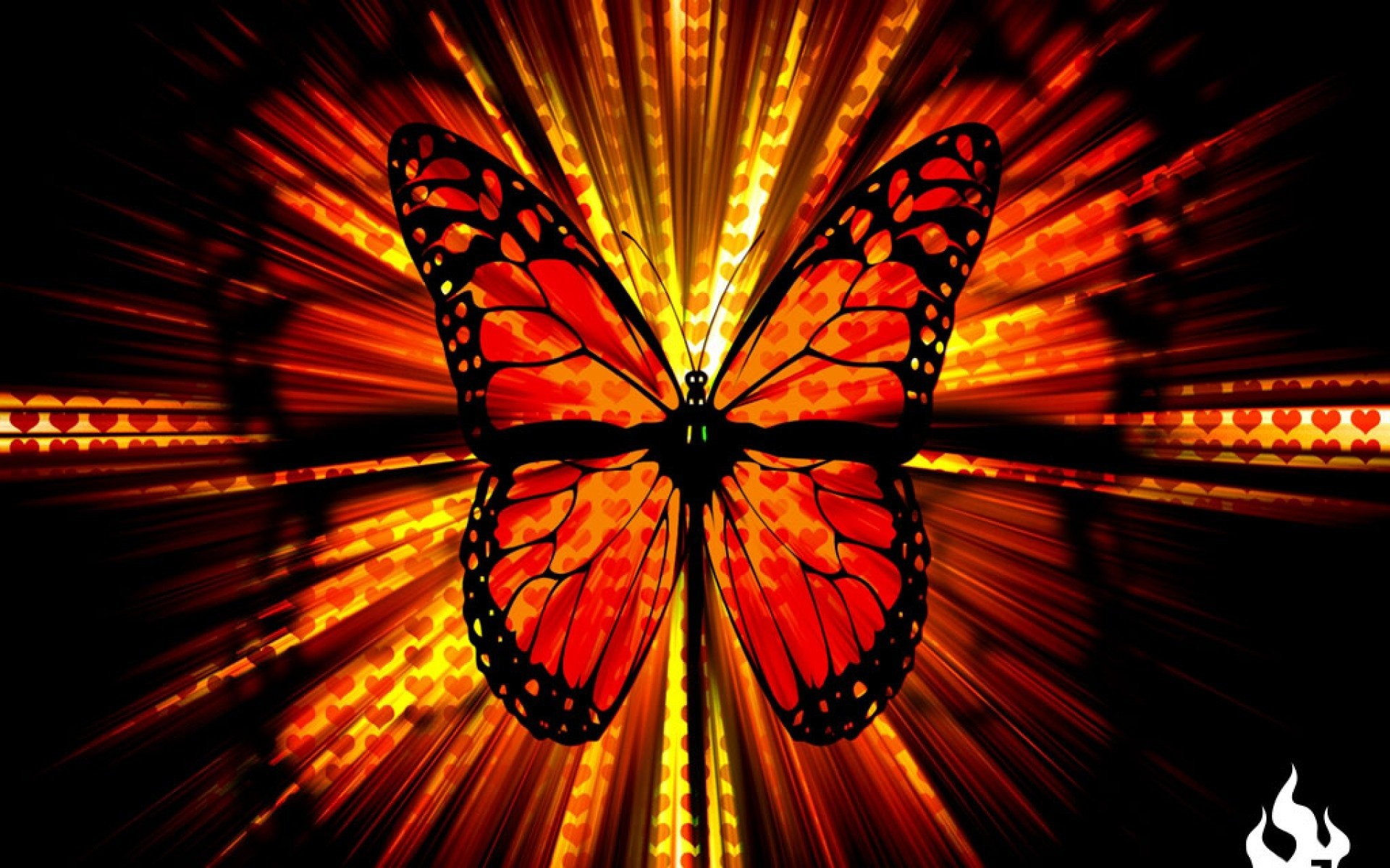 Res: 1920x1200, red butterfly 628000