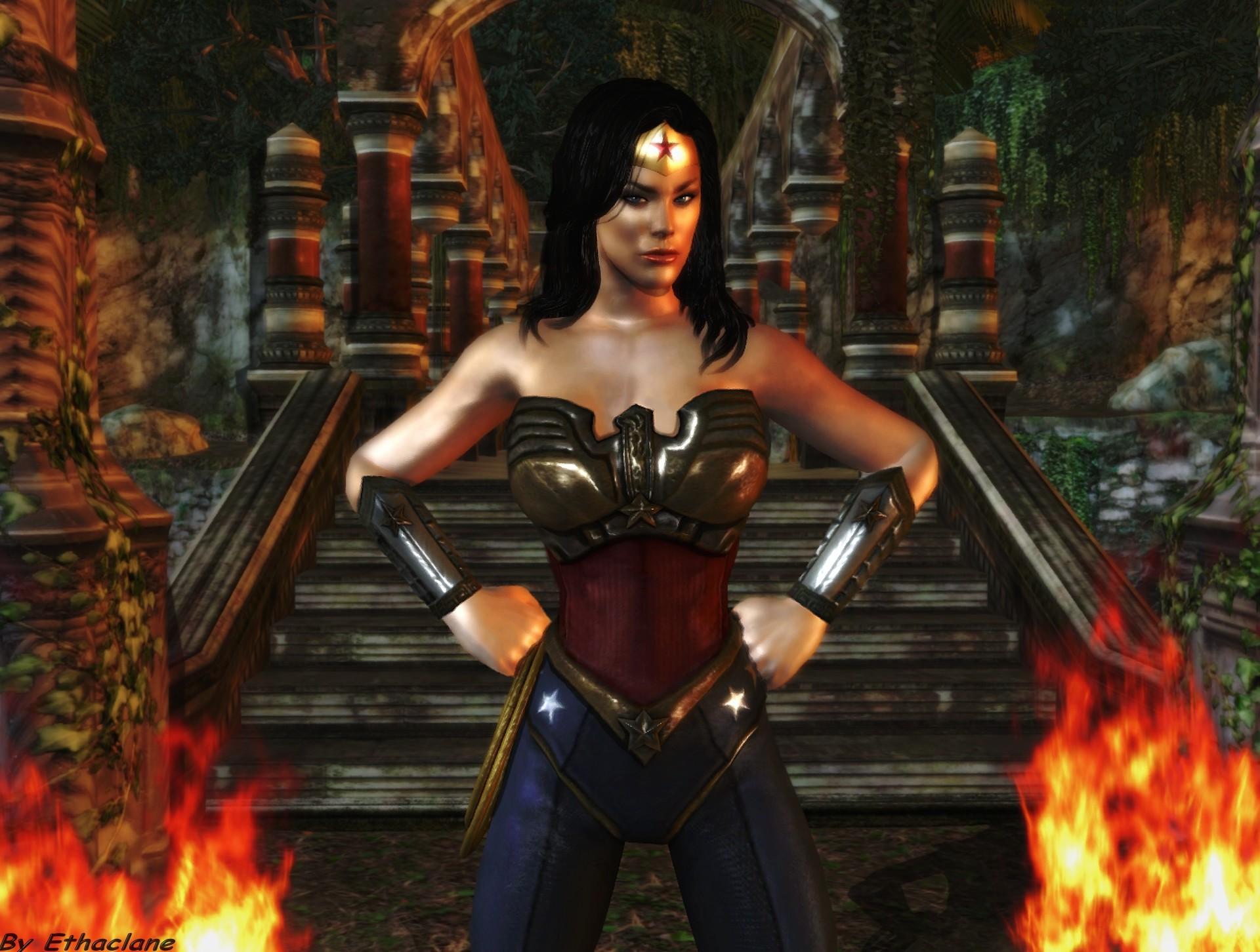 Res: 1920x1452, ... Wonder Woman wallpaper - Amazon Princess by ethaclane