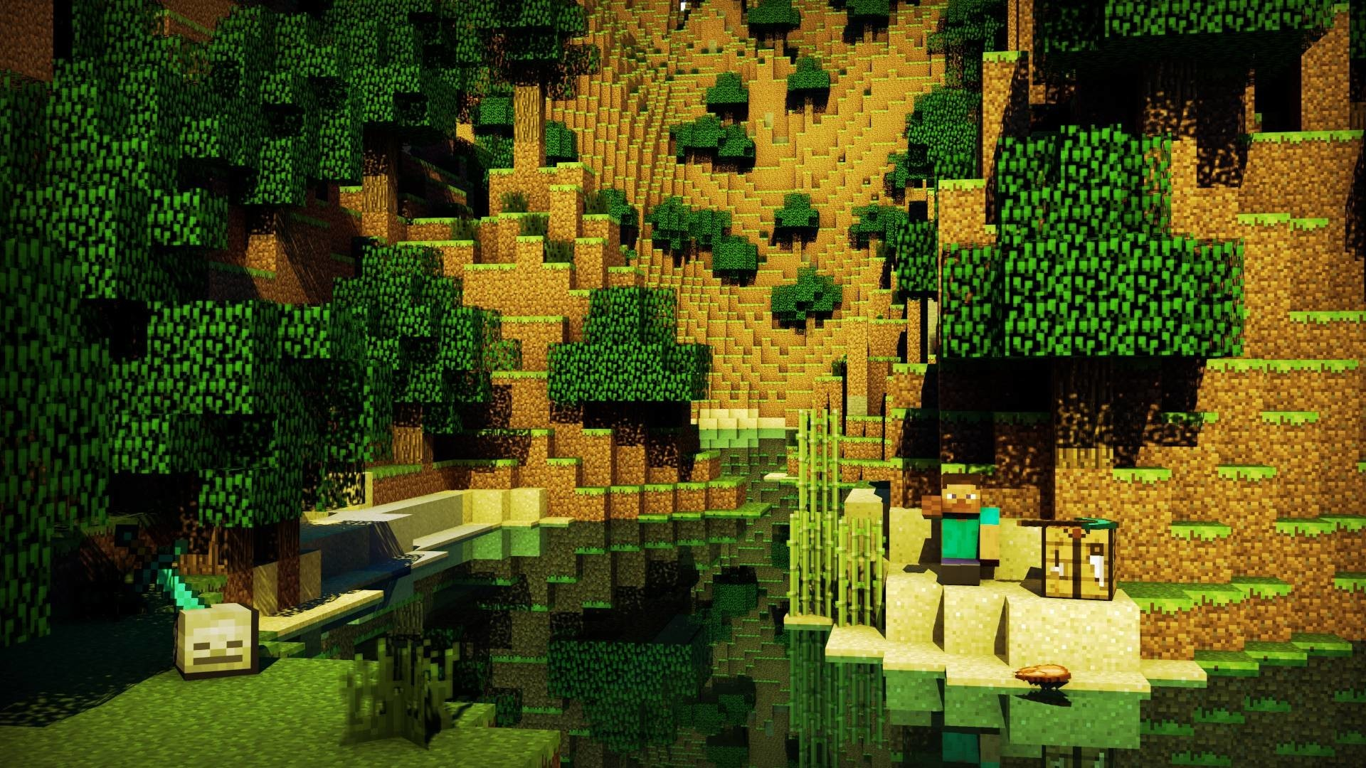 Res: 1920x1080,  Images For > Cool Minecraft Background Hd