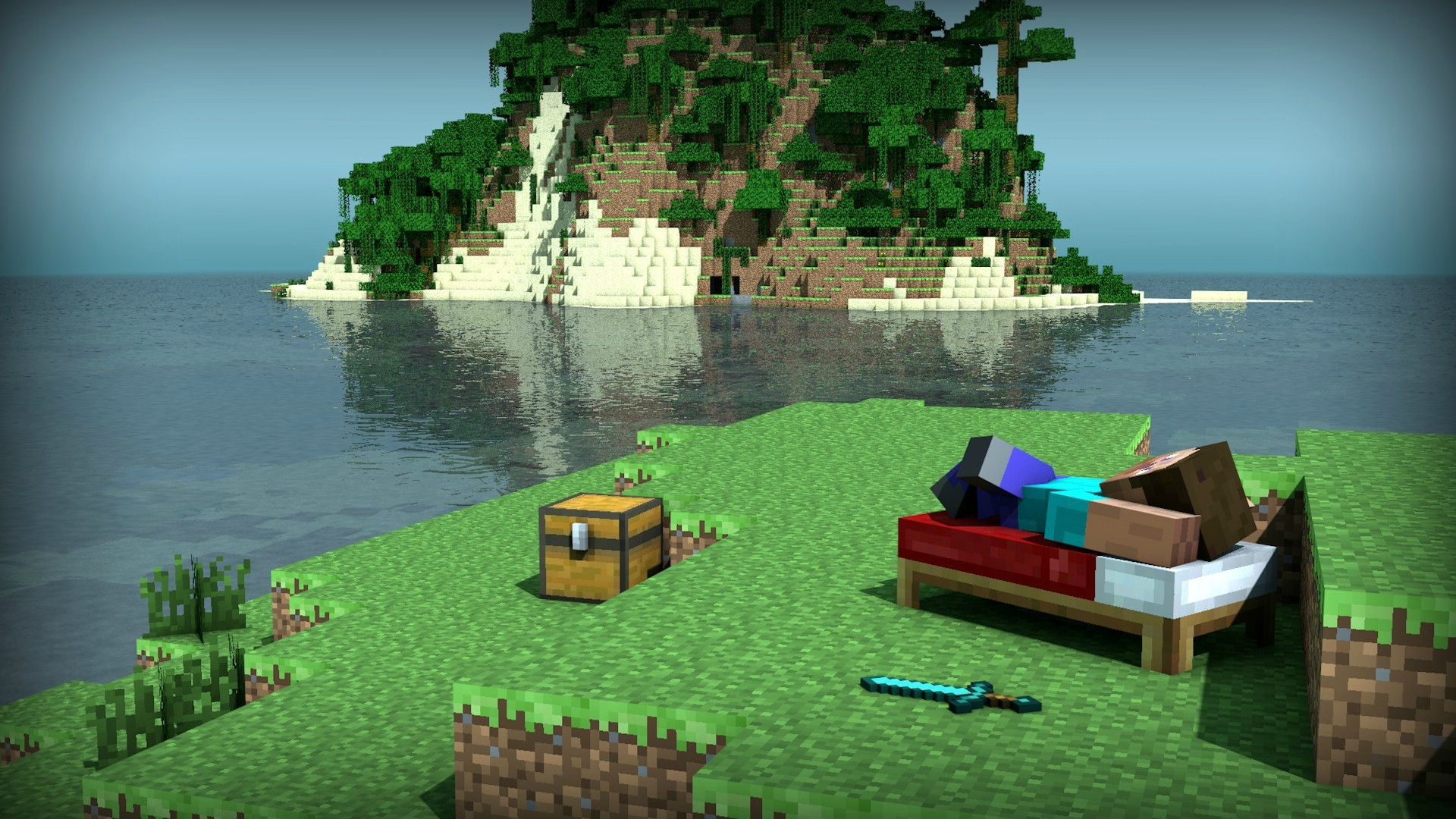 Res: 1920x1080, Minecraft Gallery images Relaxing Steve HD wallpaper and background photos