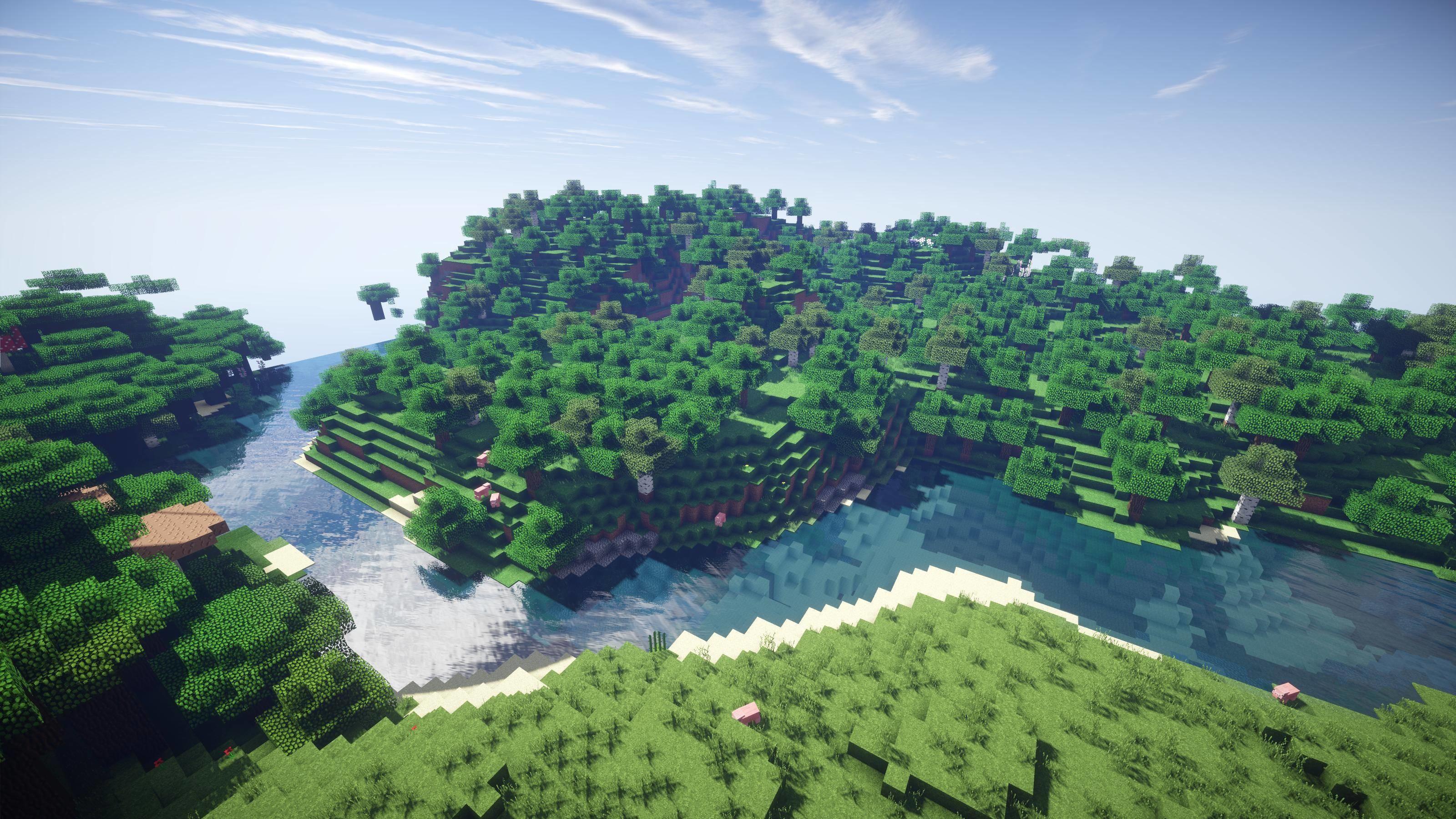 Res: 3200x1800, Minecraft Day Background (HD ) by 567legodude on DeviantArt