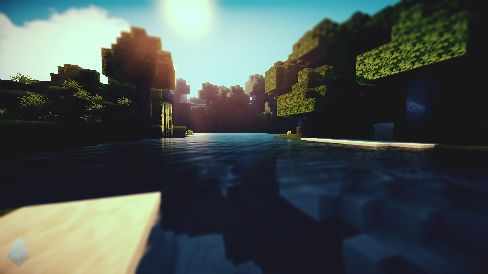 Res: 1920x1080, Minecraft Shaders Background
