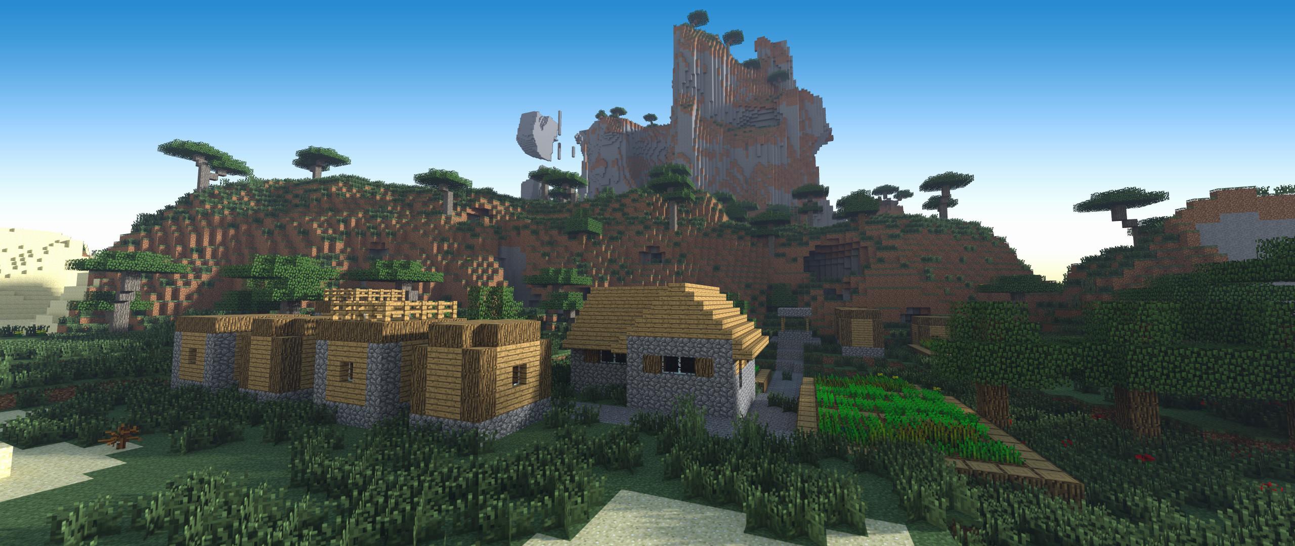 Res: 2560x1080, Mcpe Wallpaper New Minecraft Wallpaper Landscape Background