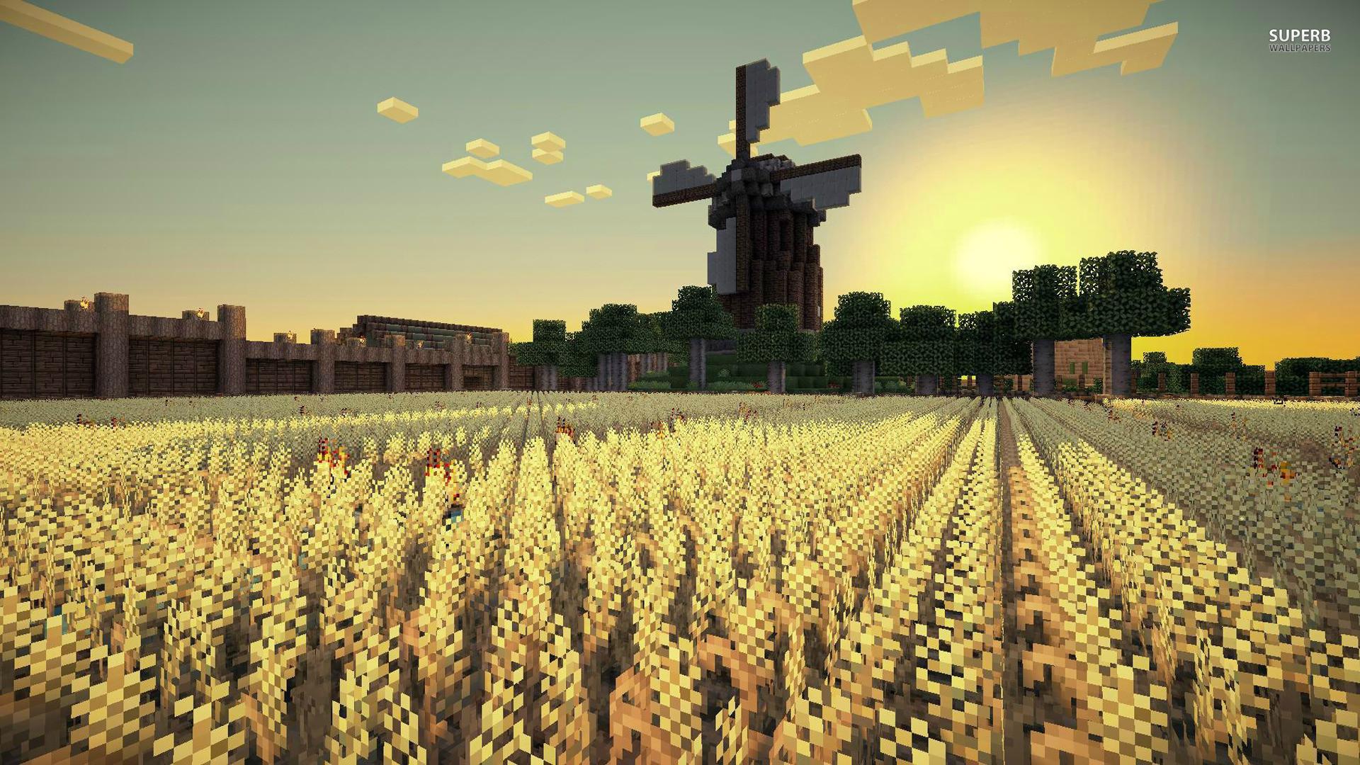 Res: 1920x1080, Minecraft background field