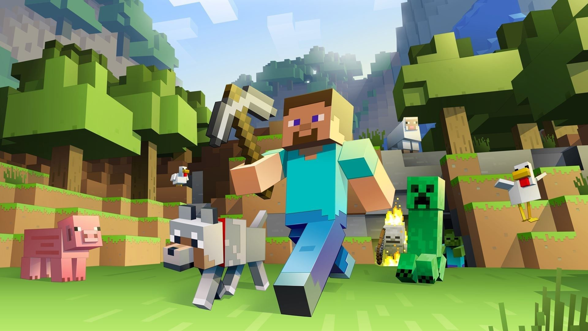 Res: 1920x1080, Minecraft Wallpapers For Computer Wallpaper 1366×768 Minecraft Laptop  Backgrounds (48 Wallpapers) | Adorable Wallpapers