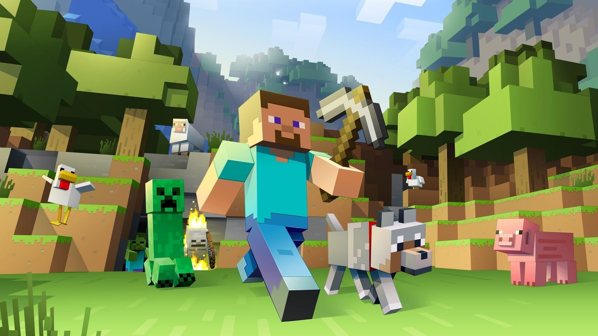 Res: 1920x1080, Minecraft Backgrounds HD Wallpaper