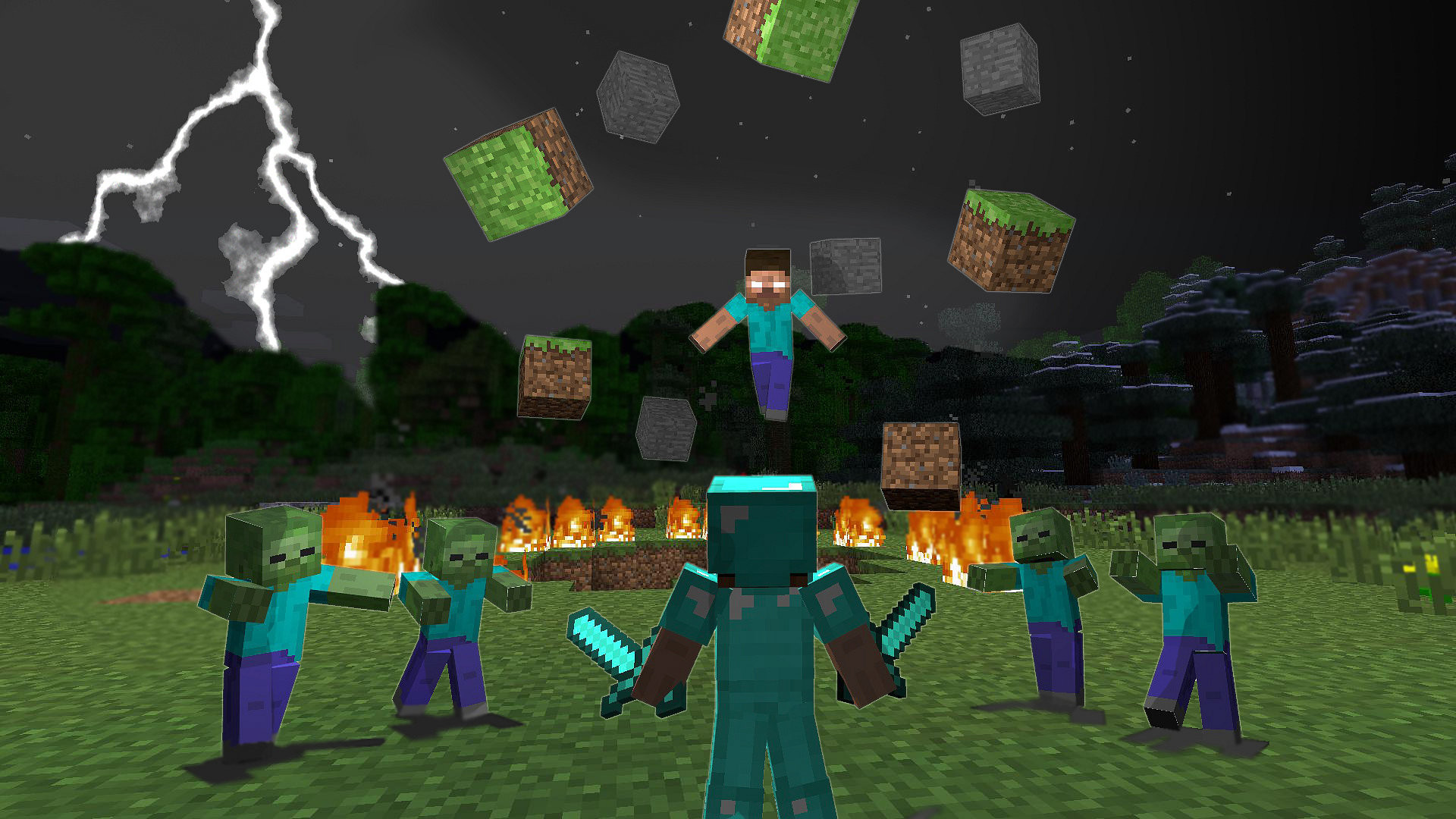 Res: 1920x1080, Top Collection of Minecraft Wallpapers: Minecraft Background  px –  download free