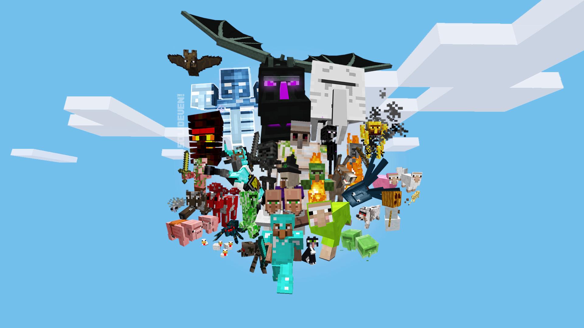 Res: 1920x1080, Minecraft Wallpaper Mobs