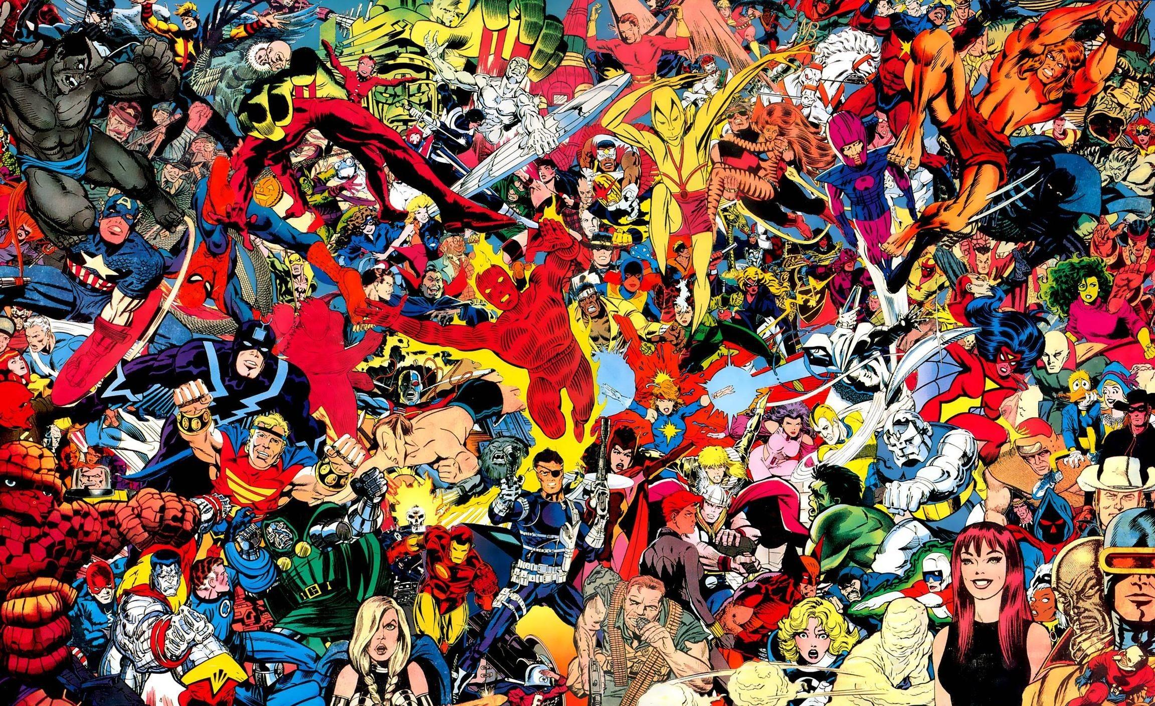 Res: 2304x1408, Classic Marvel Comics Wallpaper images