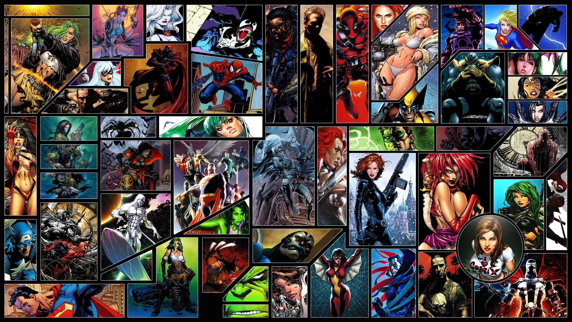 Res: 1920x1080, Comics - Marvel Comics Captain America Superman DC Comics Magneto (Marvel  Comics) Venom Spider