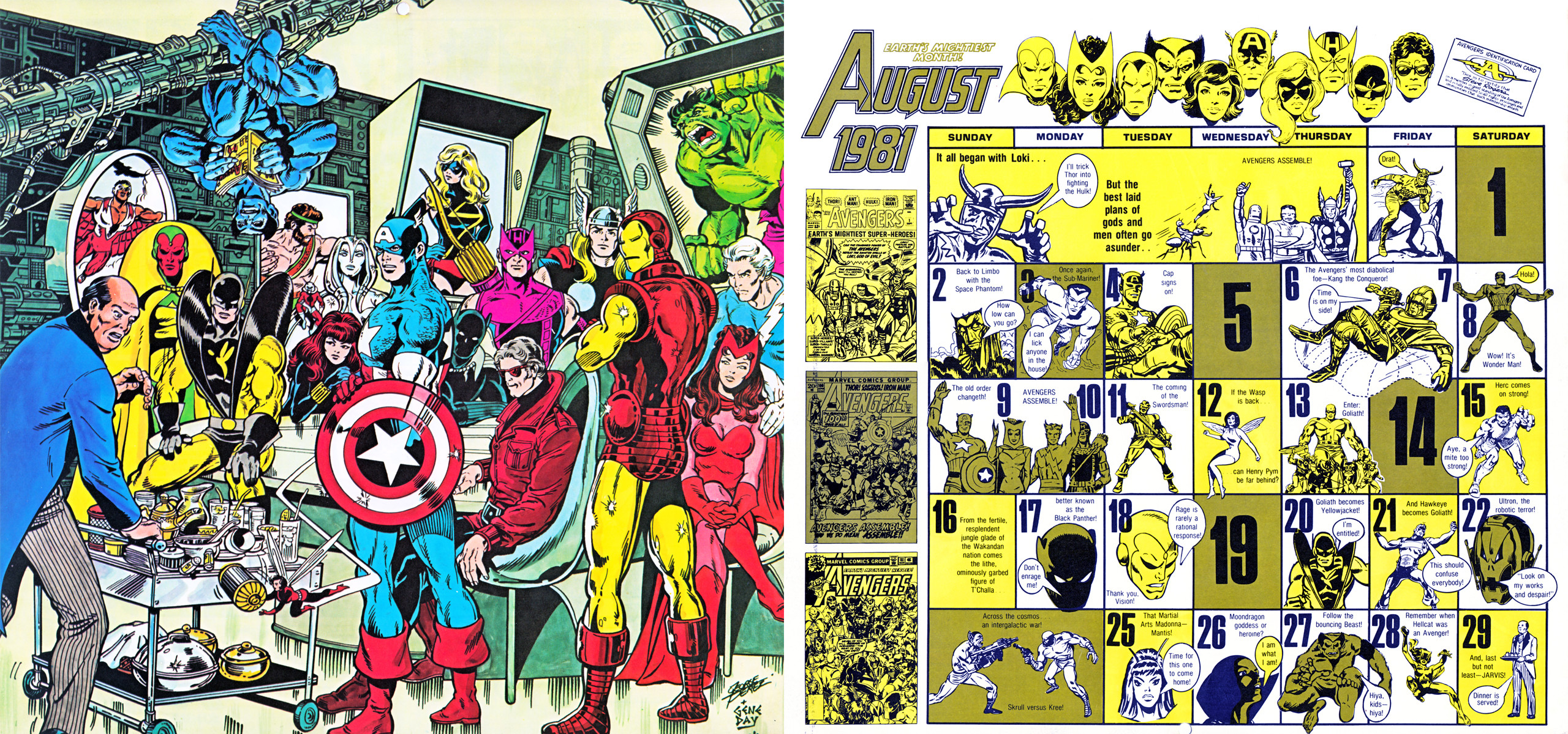 Res: 2560x1200, 1981/2015 Marvel Comics Calendar - August