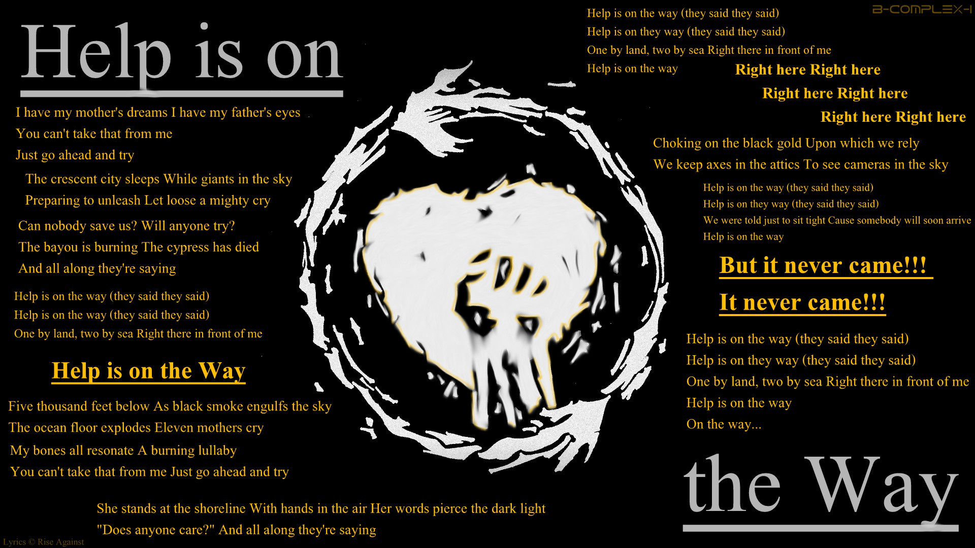 Res: 1920x1080, ... Rise Against - Help is on the Way - Lyrics by Fusche92