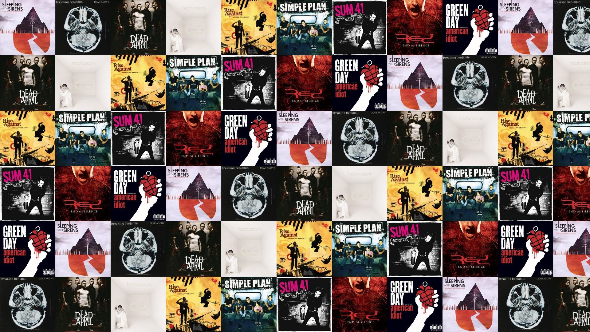 Res: 1920x1080, Download this free wallpaper with images of Sleeping With Sirens – With  Ears To See And Eyes To Hear, Breaking Benjamin – Dear Agony, Dead By April  – Dead ...