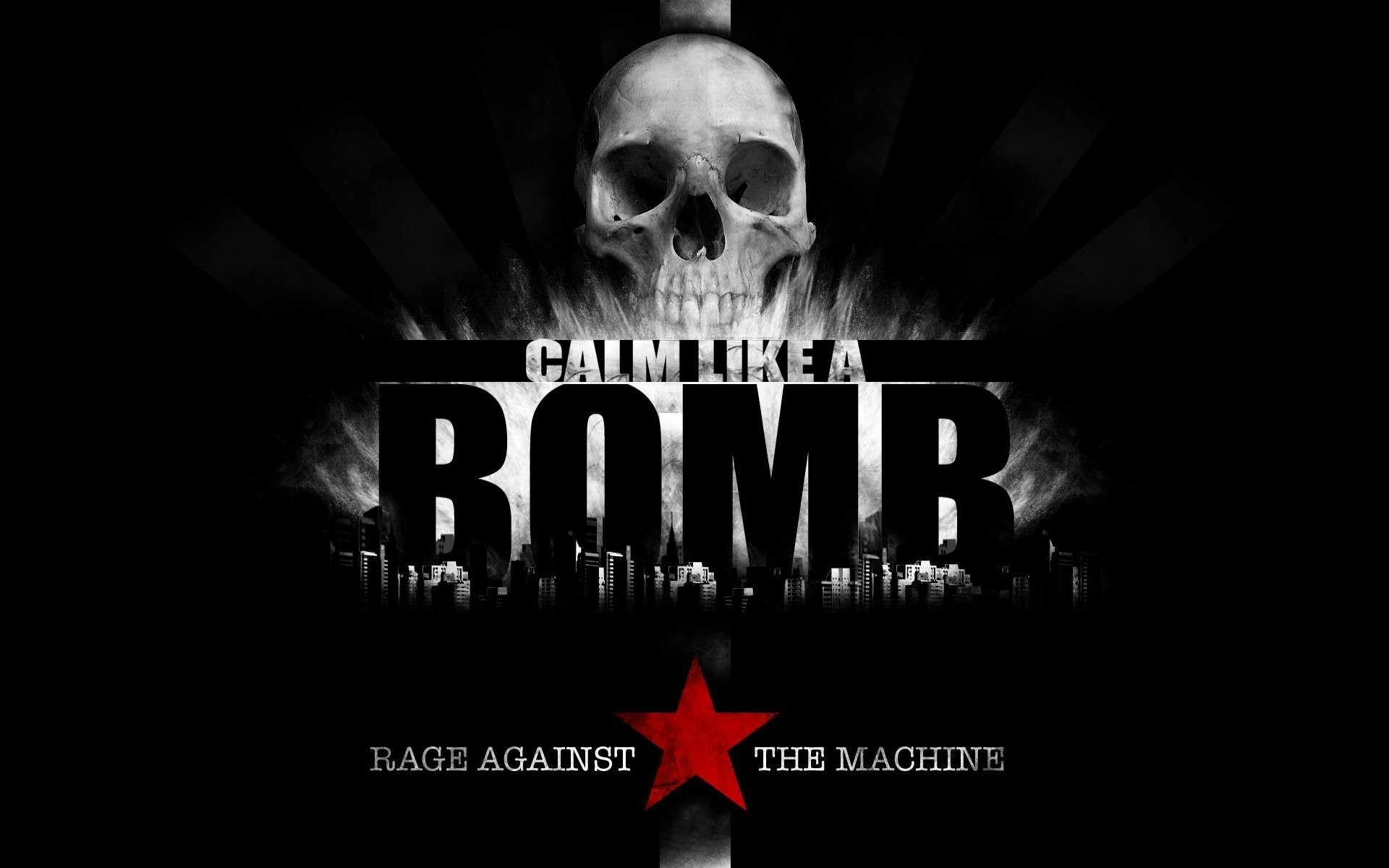 Res: 1920x1200, music rage against the machine calm like a bomb skull star rapcore rap  metal funk metal