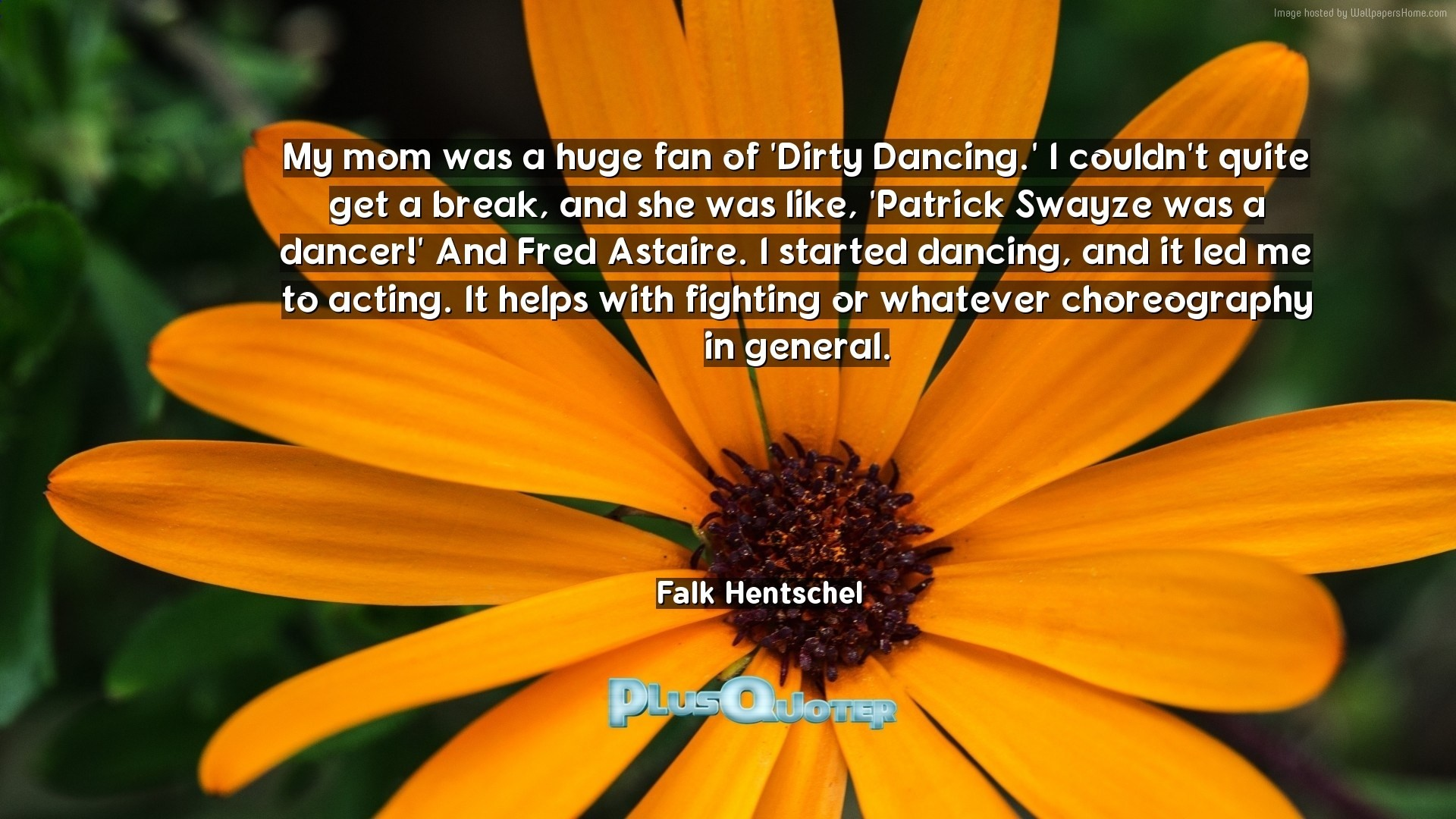 """Res: 1920x1080, """"My mom was a huge fan of 'Dirty Dancing.' I couldn't quite get a break,  and she was like, 'Patrick Swayze was a dancer!' And Fred Astaire."""
