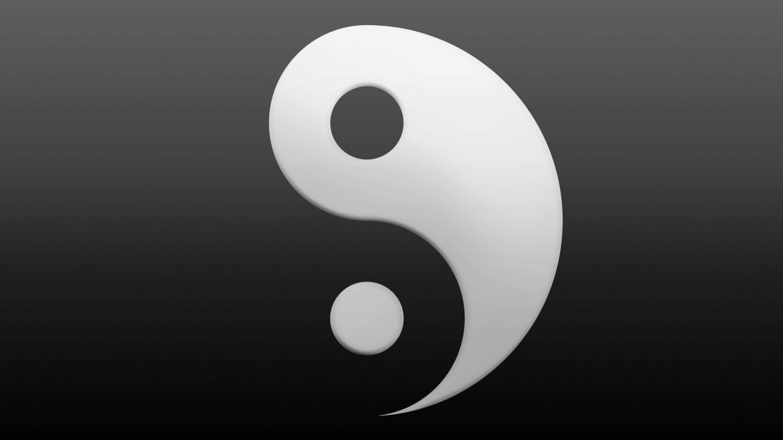 Res: 2560x1440, wallpaper yin yang