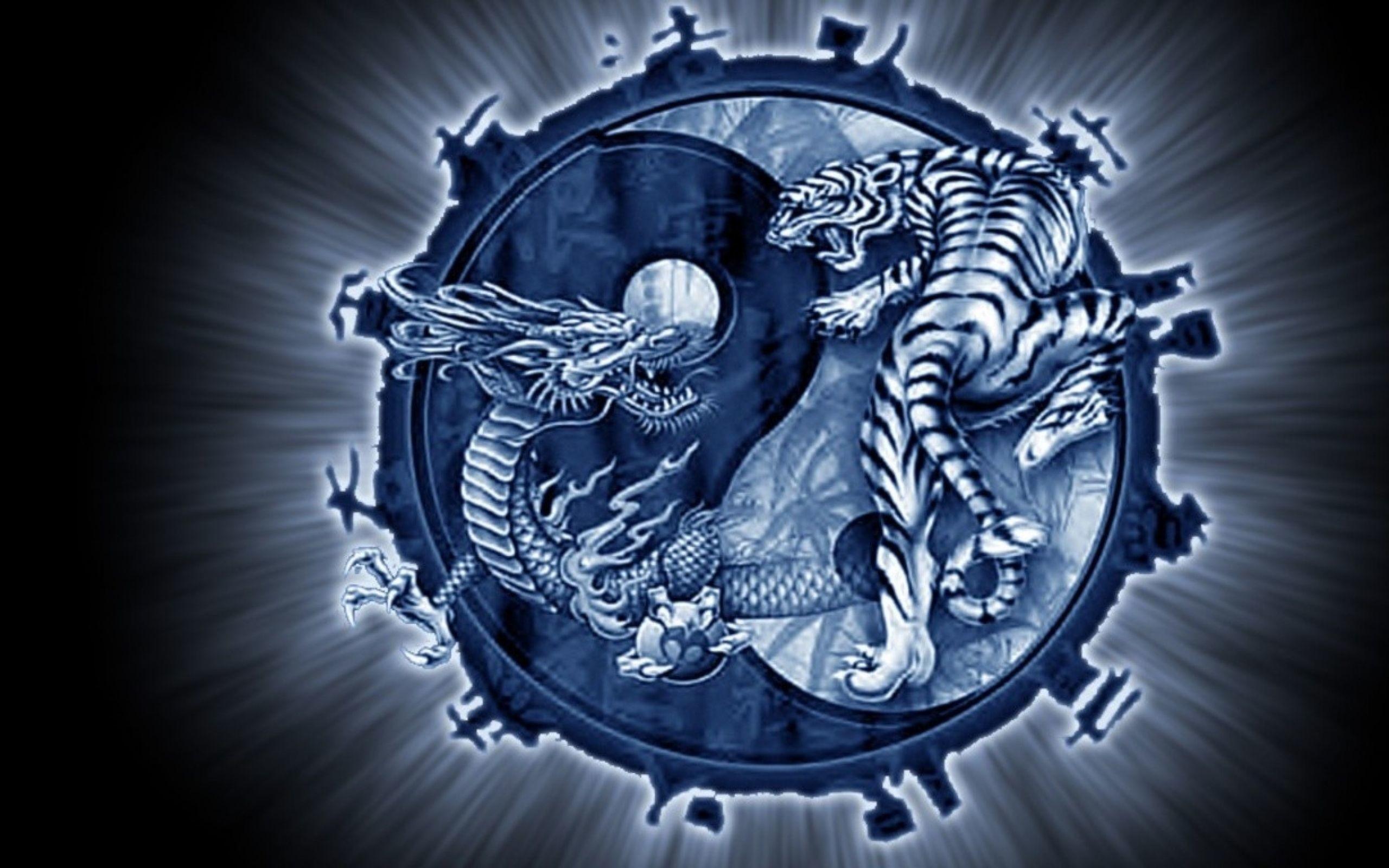Res: 2560x1600, fantasy yin yang | Abstract Dreamy Fantasy Dragons Tigers Yin Yang Wallpaper  - HD .