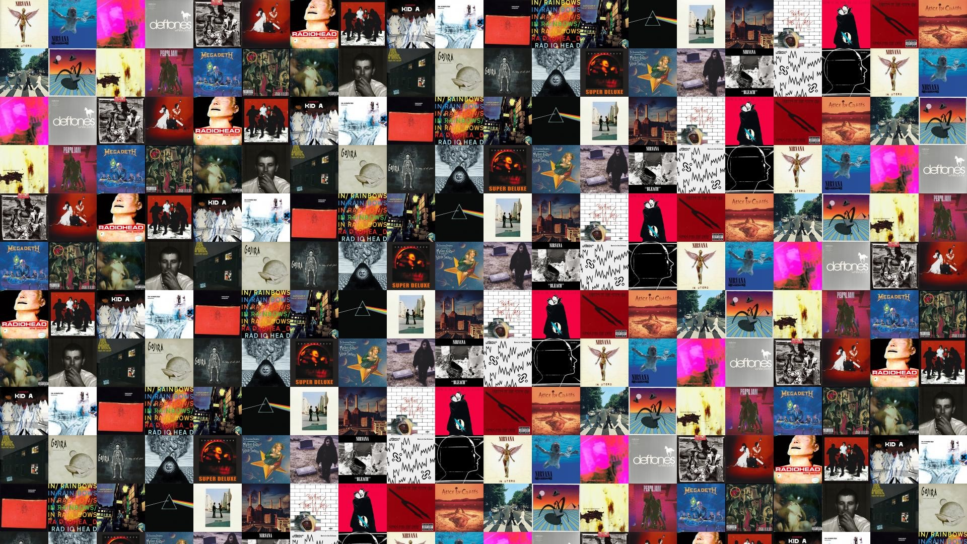 Res: 1920x1080, Download this free wallpaper with images of Nirvana – In Utero, Nirvana –  Nevermind, My Bloody Valentine – Loveless, Deftones – White Pony, ...