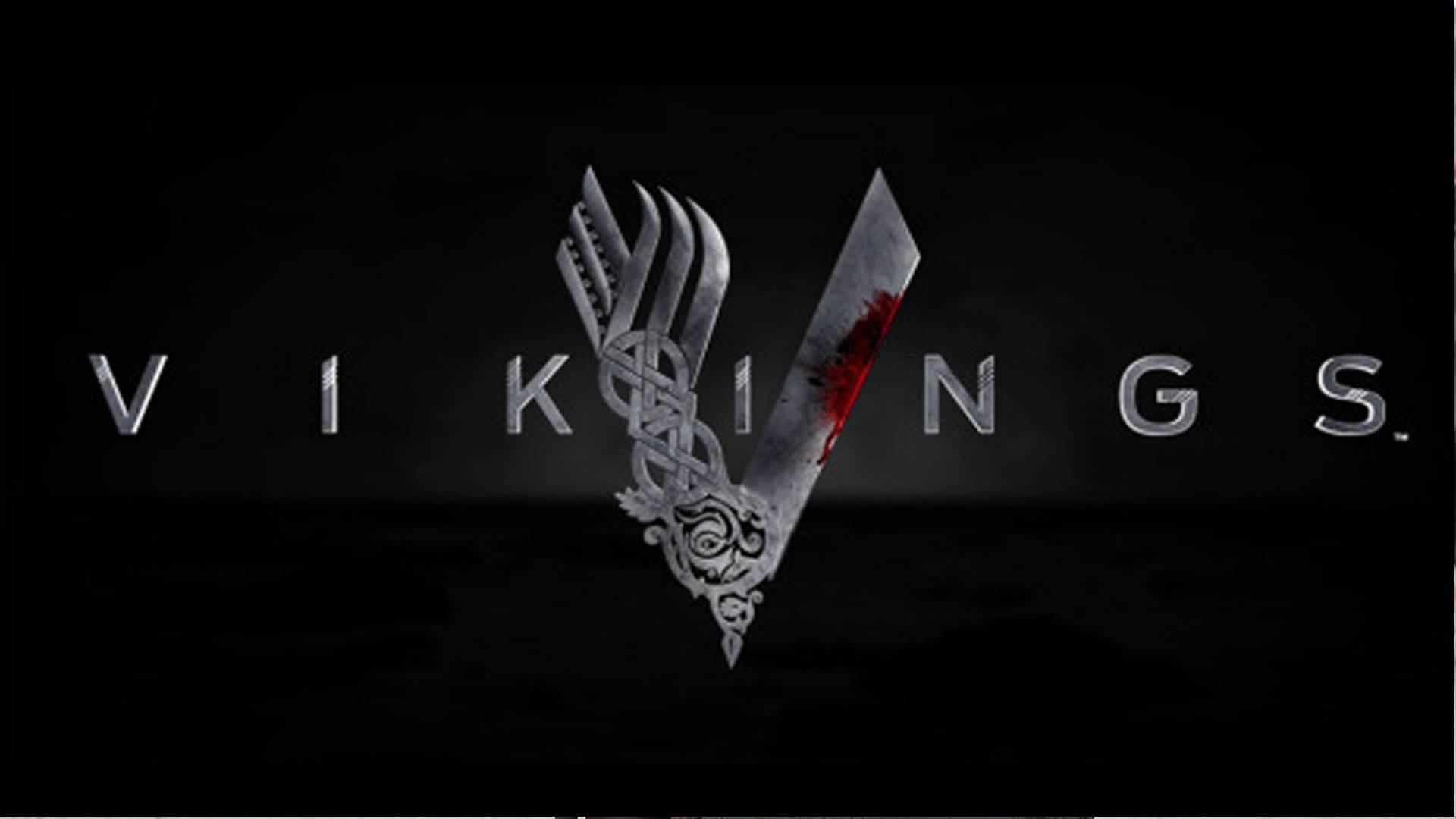 Res: 1920x1080,  Vikings Logo on Black - Vikings Wallpaper