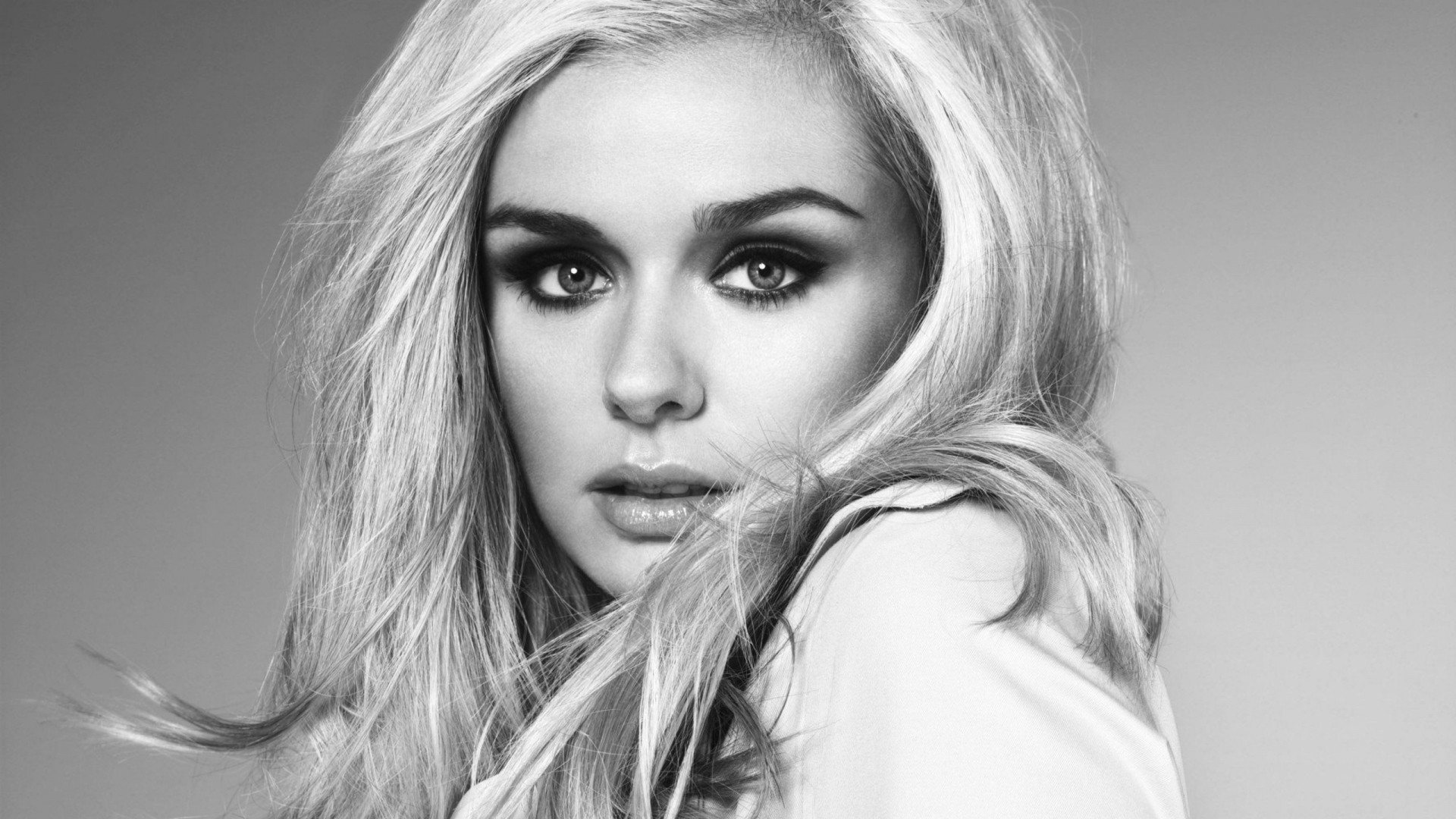 Res: 1920x1080, Download Wallpaper  katherine jenkins, view, actress, celebrity,  black and white Full HD 1080p HD Background