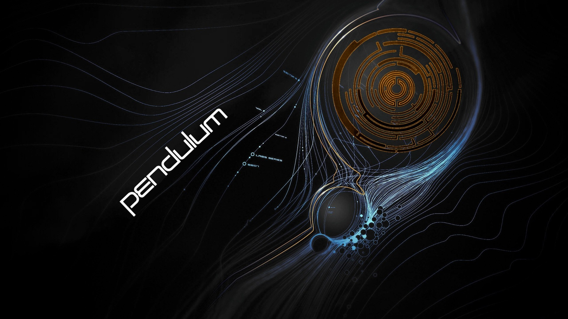 Res: 1920x1080,  Wallpaper pendulum, graphics, sign, letters, lines