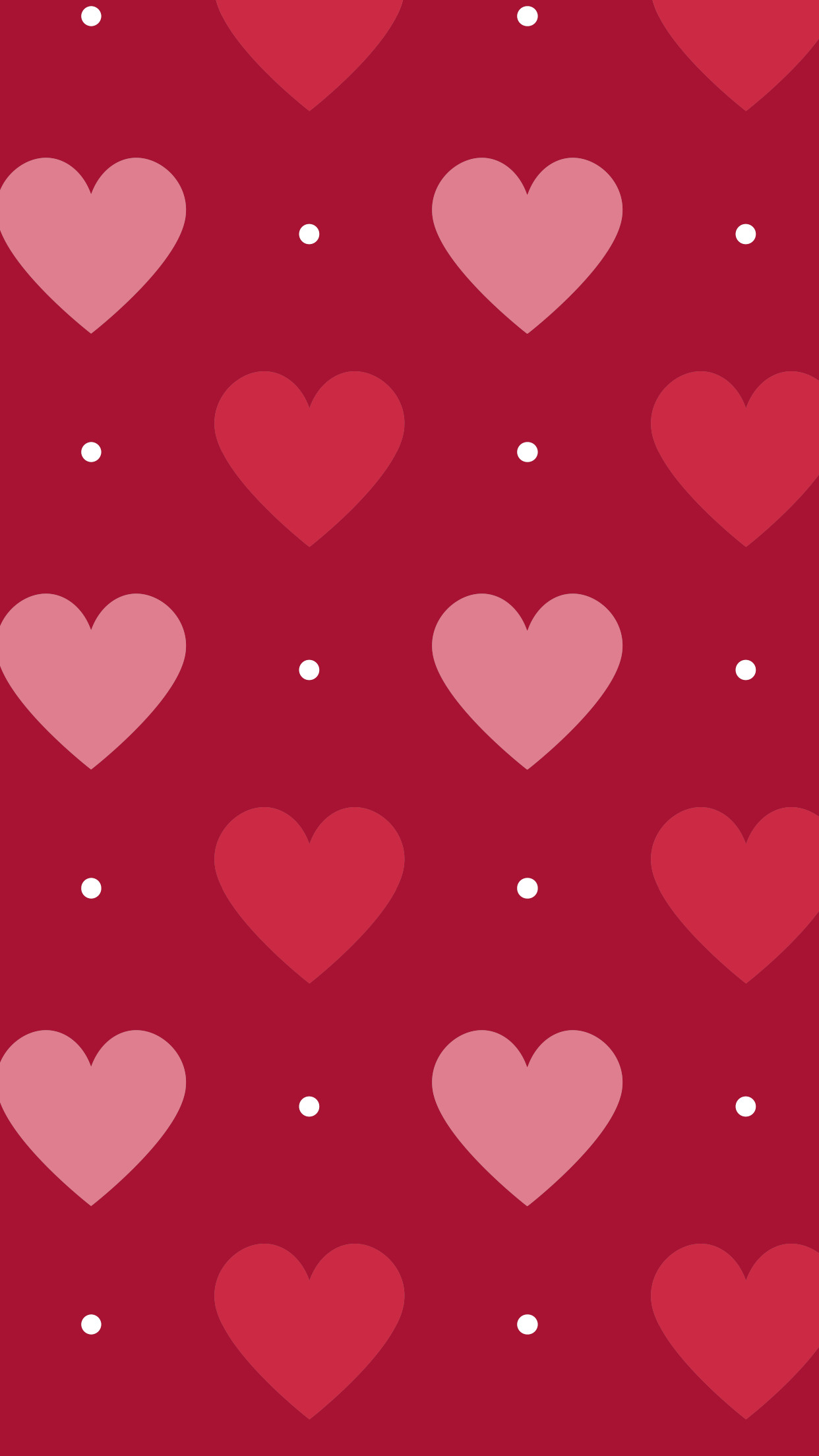 Res: 1242x2208, pink // red // hearts // polka dots
