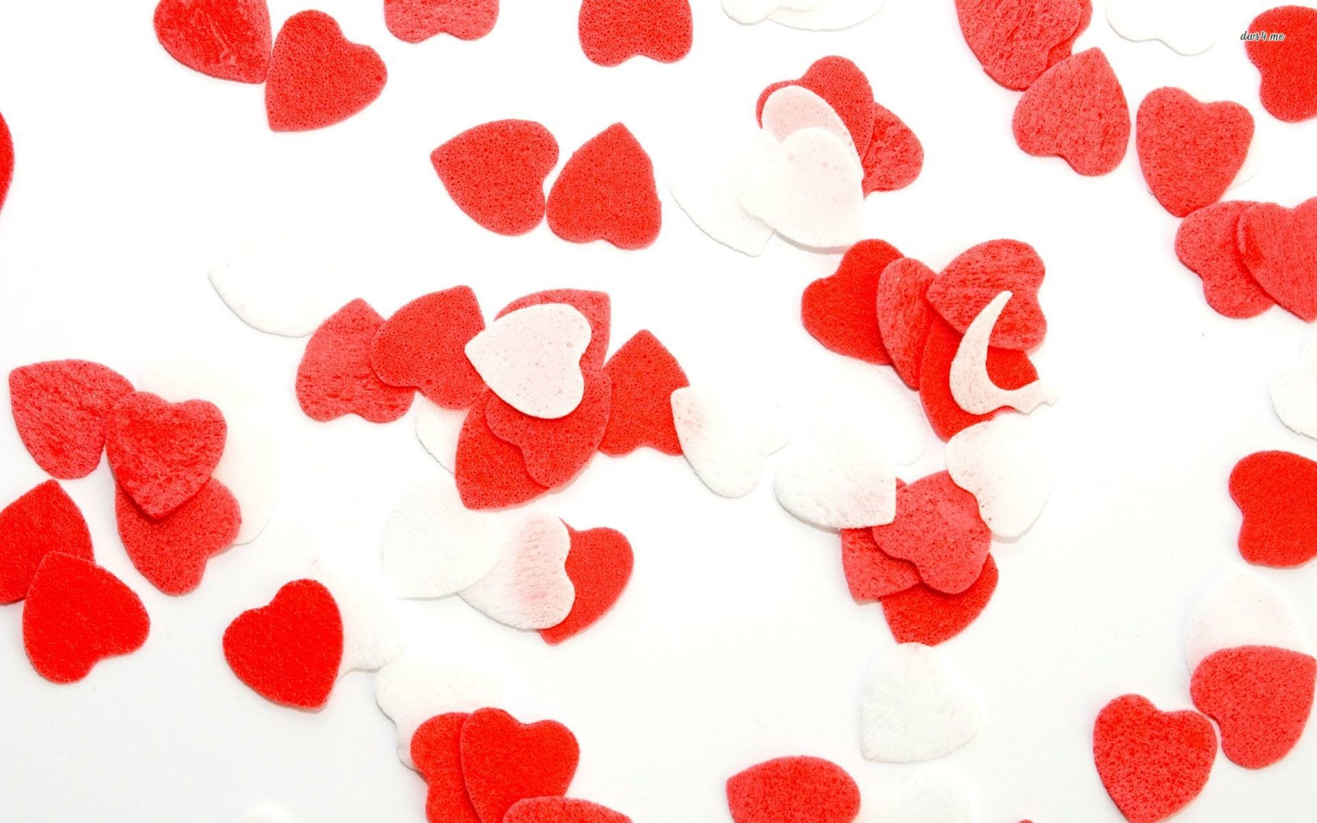 Res: 1920x1200, ... Red and white hearts wallpaper  ...