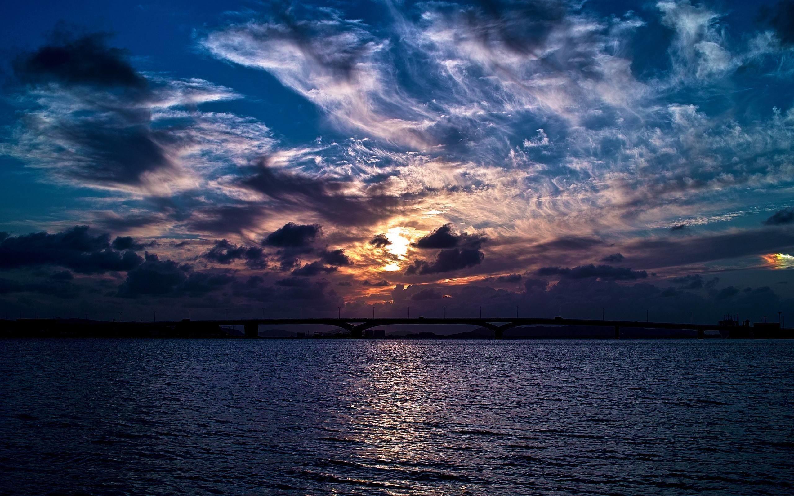 Res: 2560x1600, Clouds Dark Sunset Wallpaper | HD Wallpapers