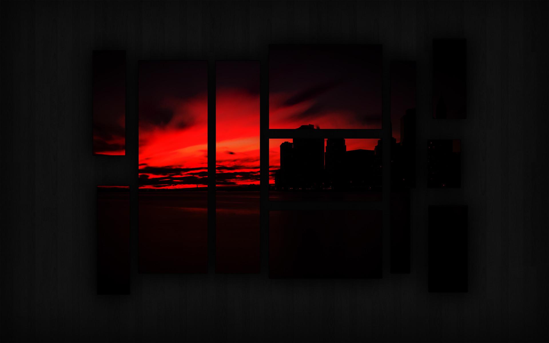 Res: 1920x1200, Manhattan Sunset Wallpaper - Dark by RubiksMaster110 Manhattan Sunset  Wallpaper - Dark by RubiksMaster110