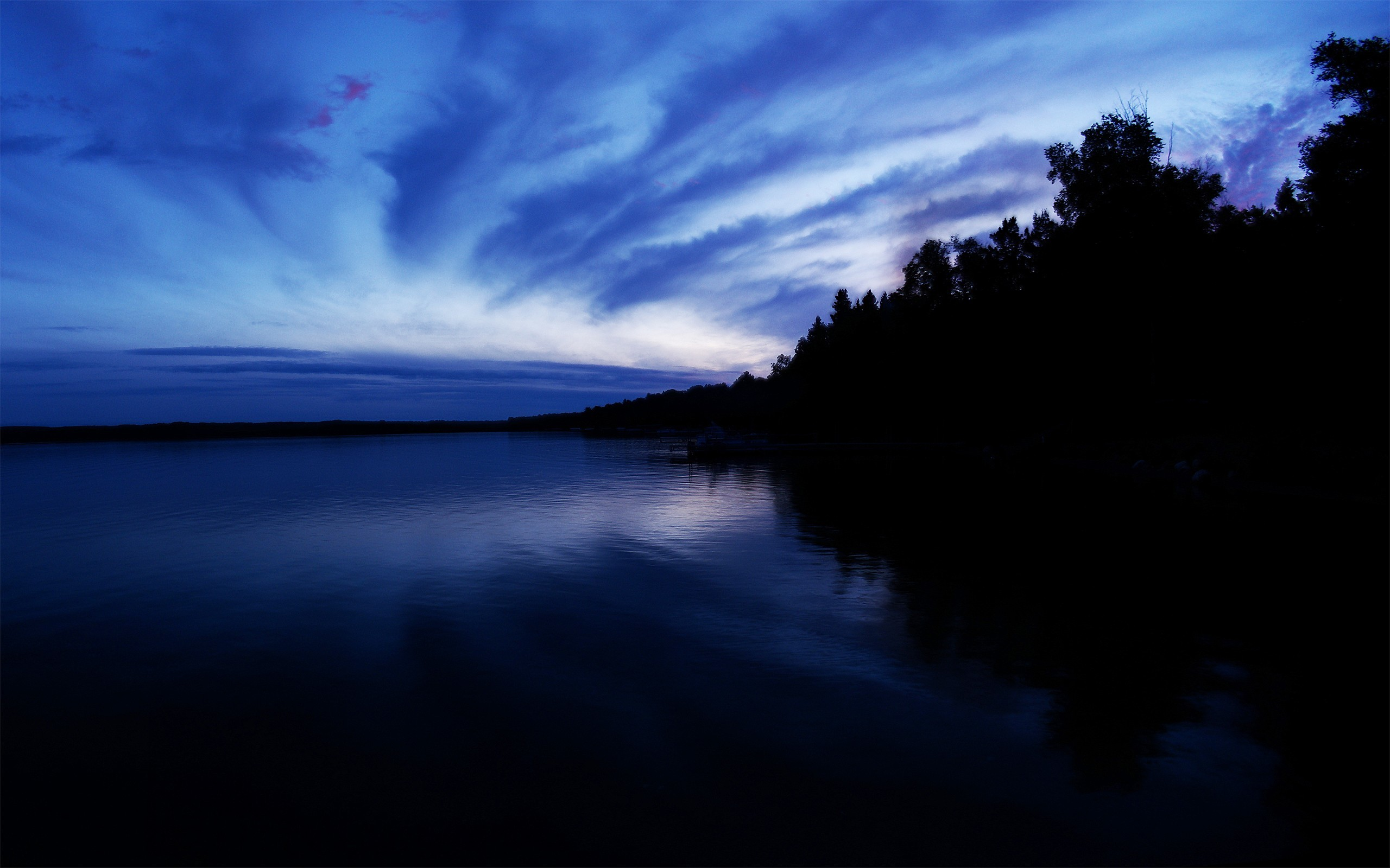 Res: 2560x1600, Image: Dark blue sunset wallpapers and stock photos. Â«