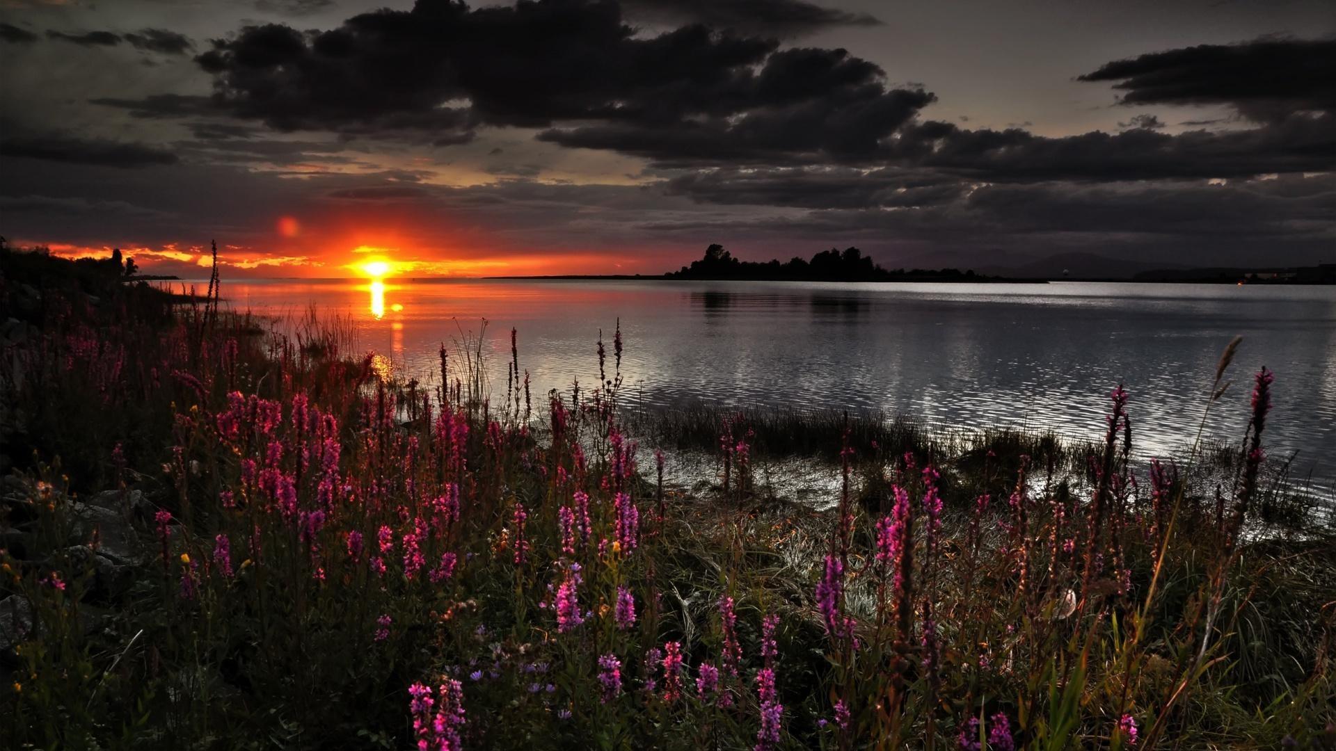 Res: 1920x1080,  beautiful dark spring sunset wallpapers full HD 1080p desktop  backgrounds