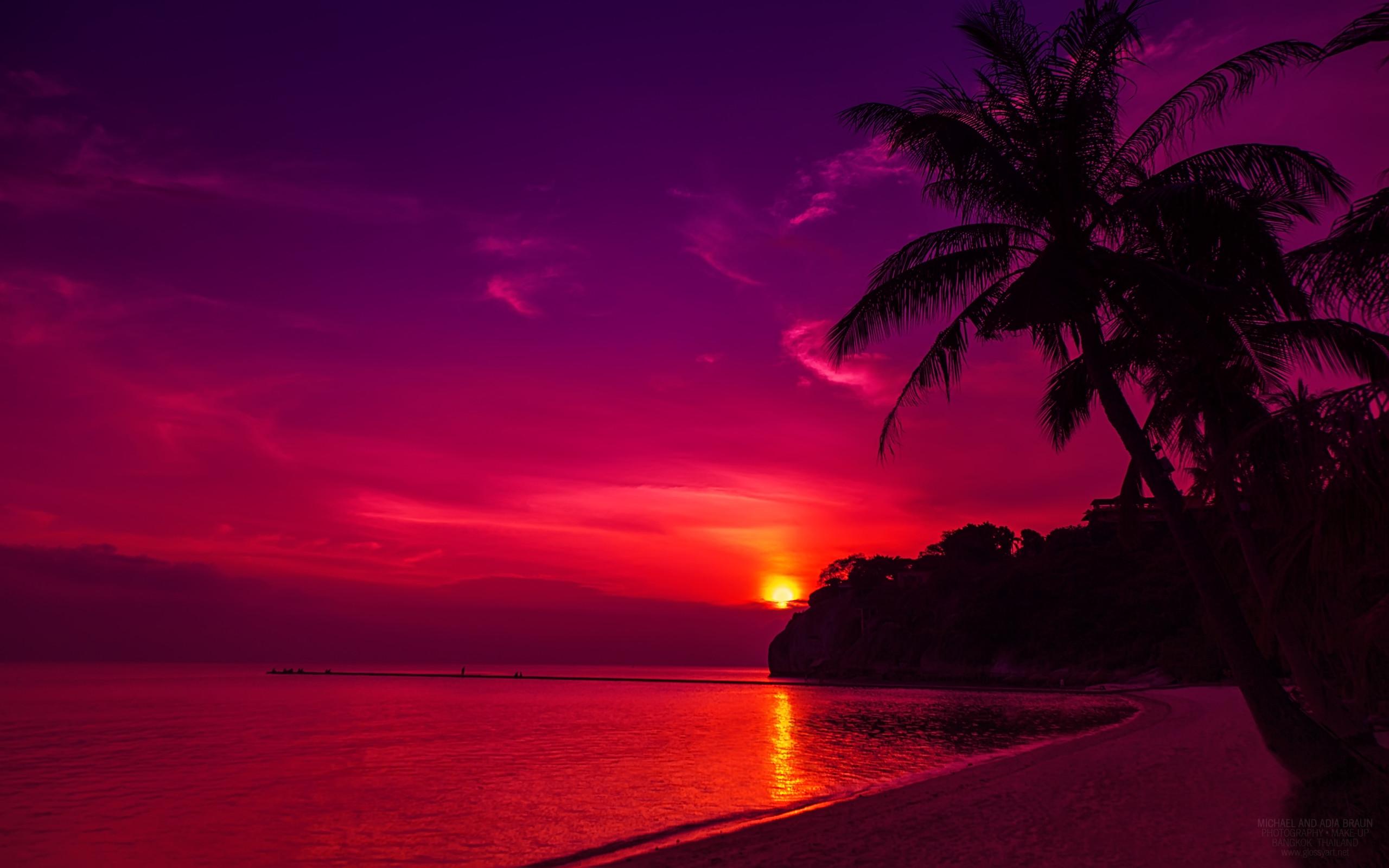 Res: 2560x1600, Thail Beach Sunset