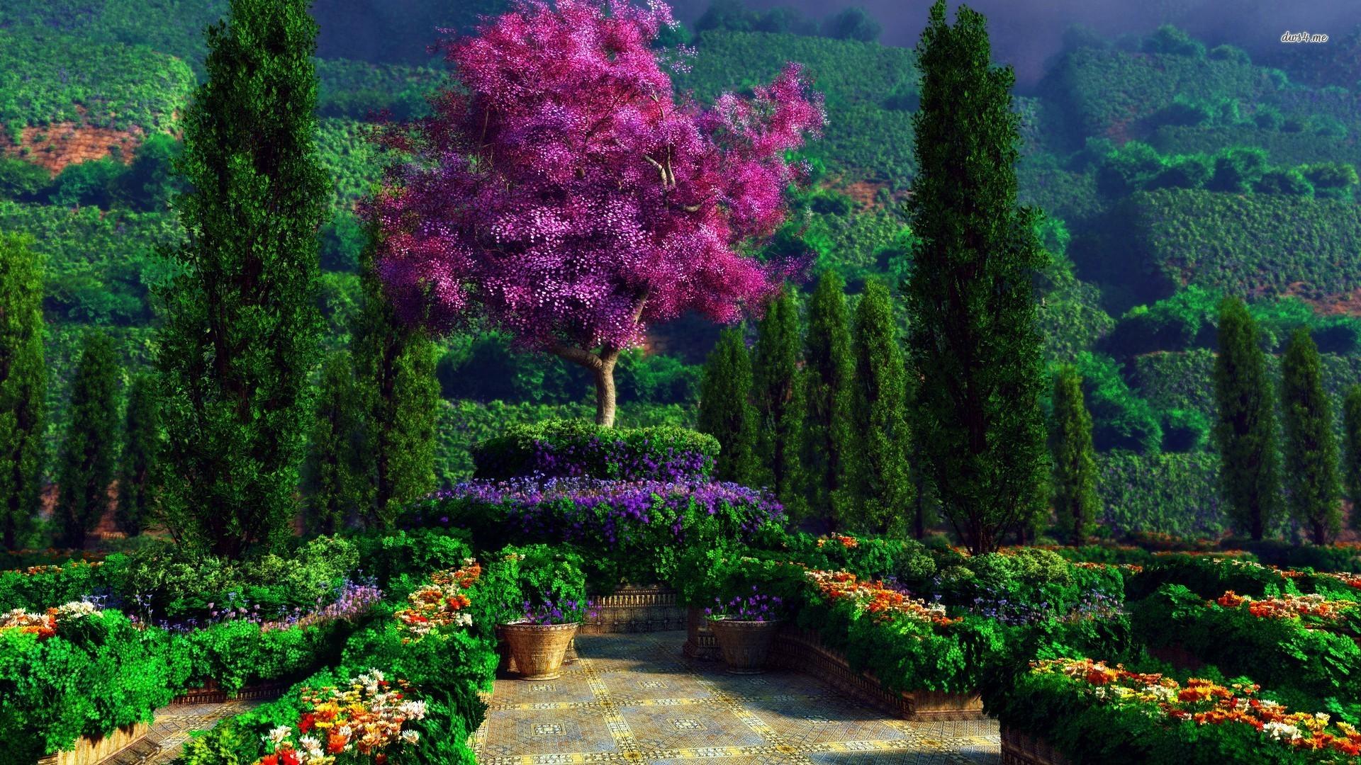 Res: 1920x1080, Man Made - Garden Wallpaper