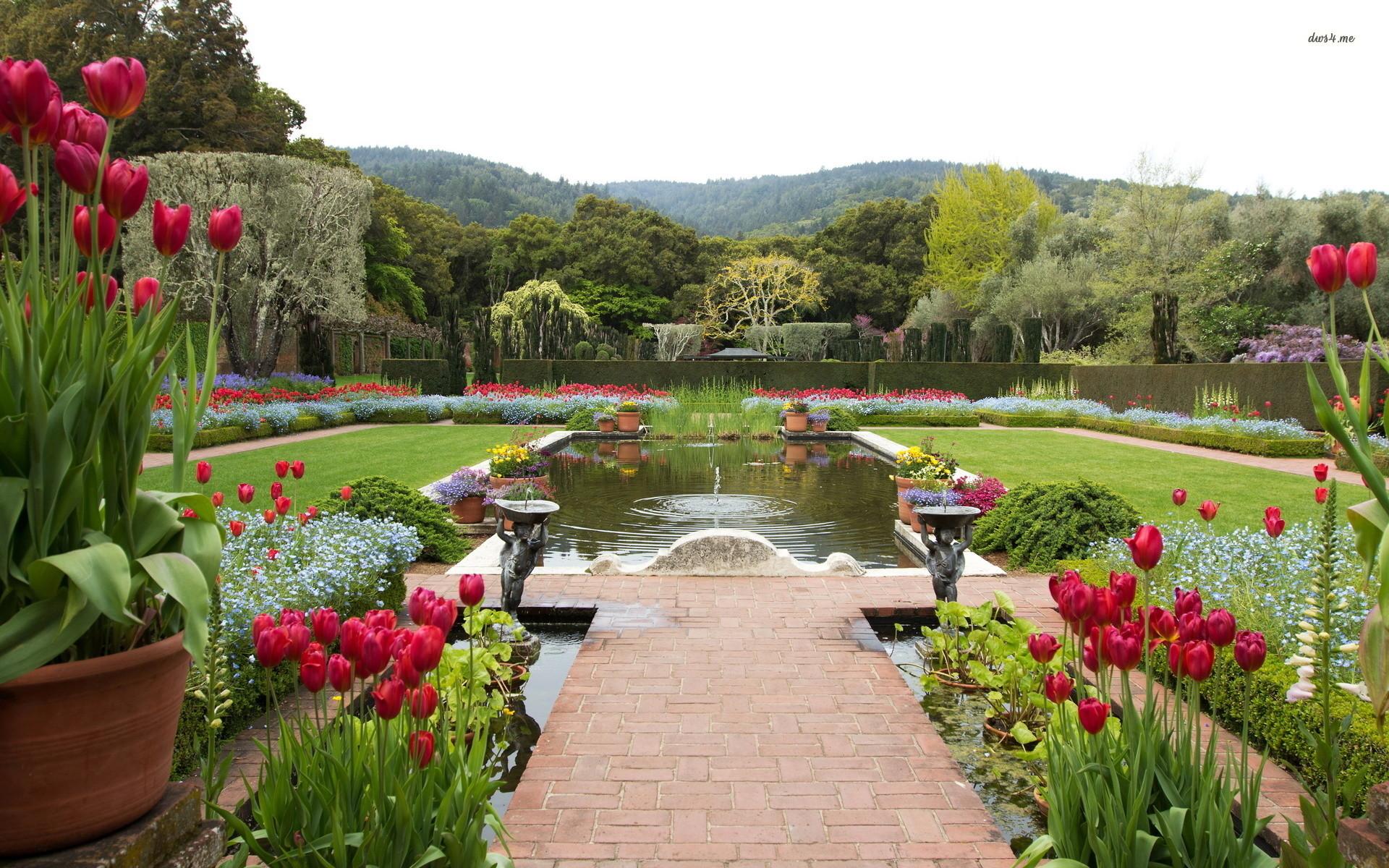 Res: 1920x1200, ... Beautiful garden wallpaper  ...