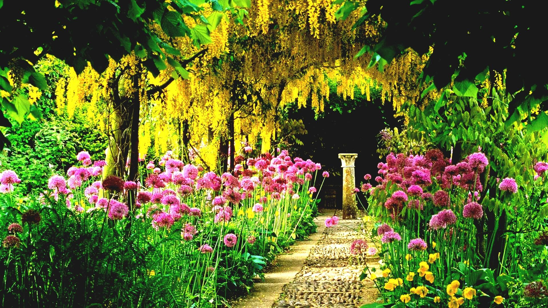 Res: 1920x1080, Flower Garden Hd Collection Of Beautiful Gardens With Best Flowers In A  Wallpaper Download