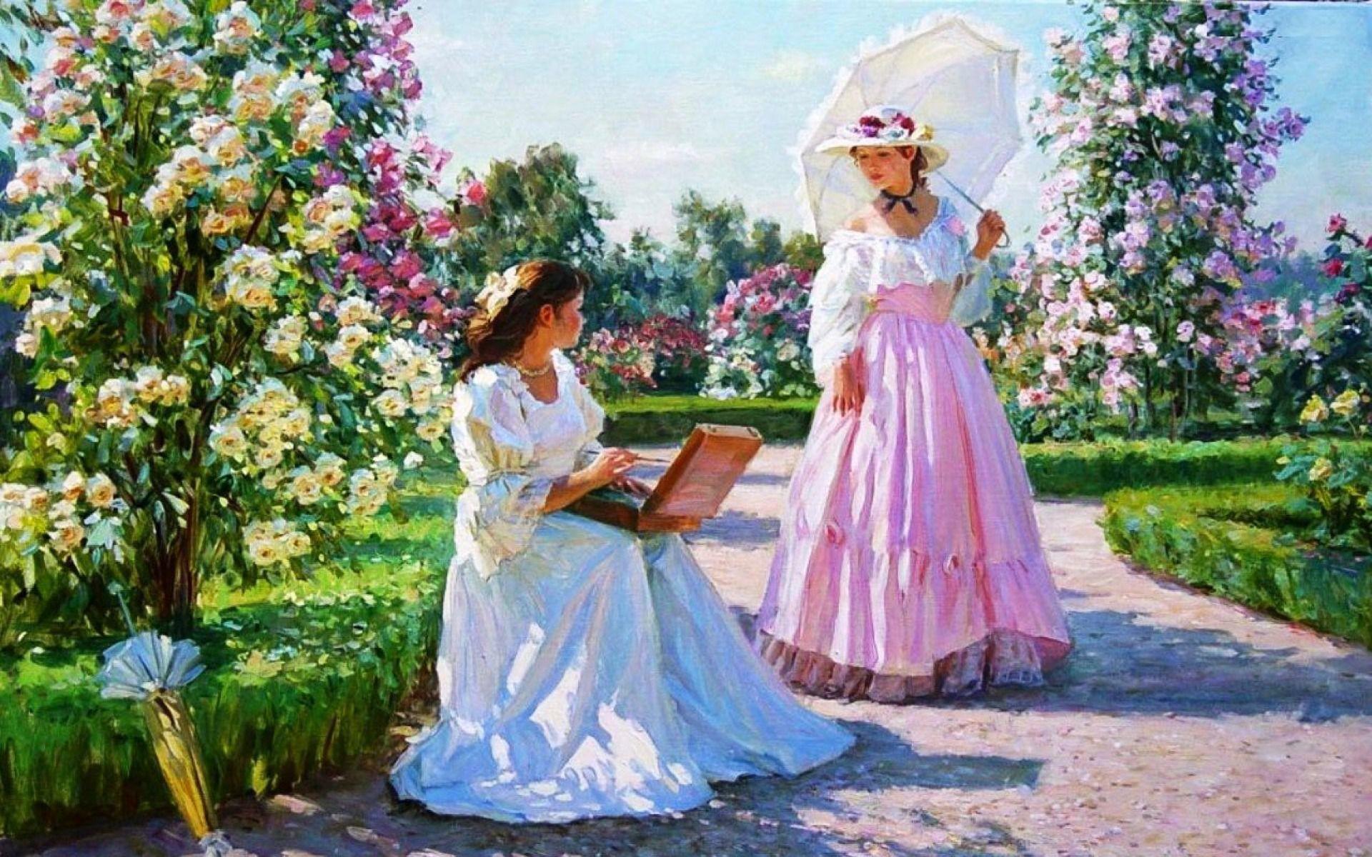 Res: 1920x1200, Fascinating Women U Rose Garden Pict Of Beautiful Wallpaper Trends And  Styles Beautiful Garden Wallpaper