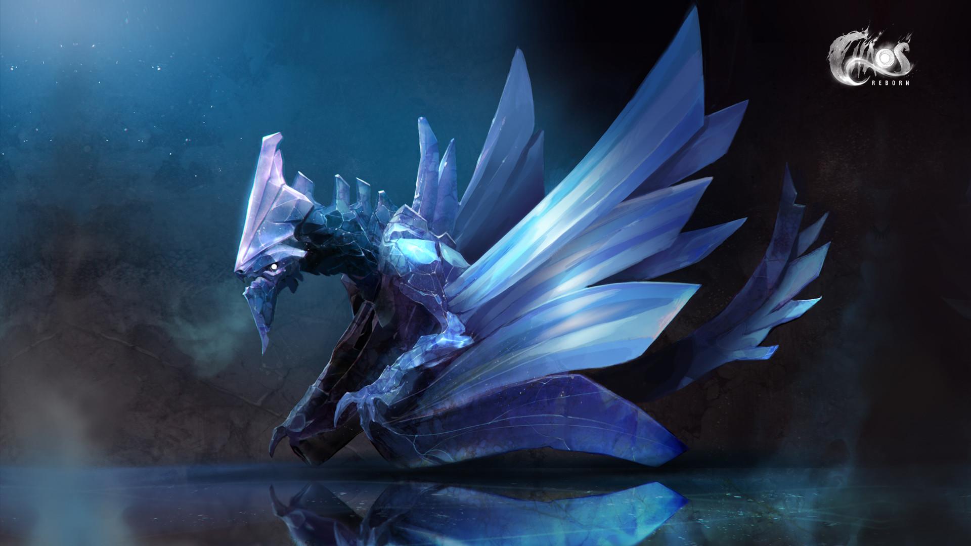 Res: 1920x1080, ChaosReborn_Sapphire_Dragon_Walpaper