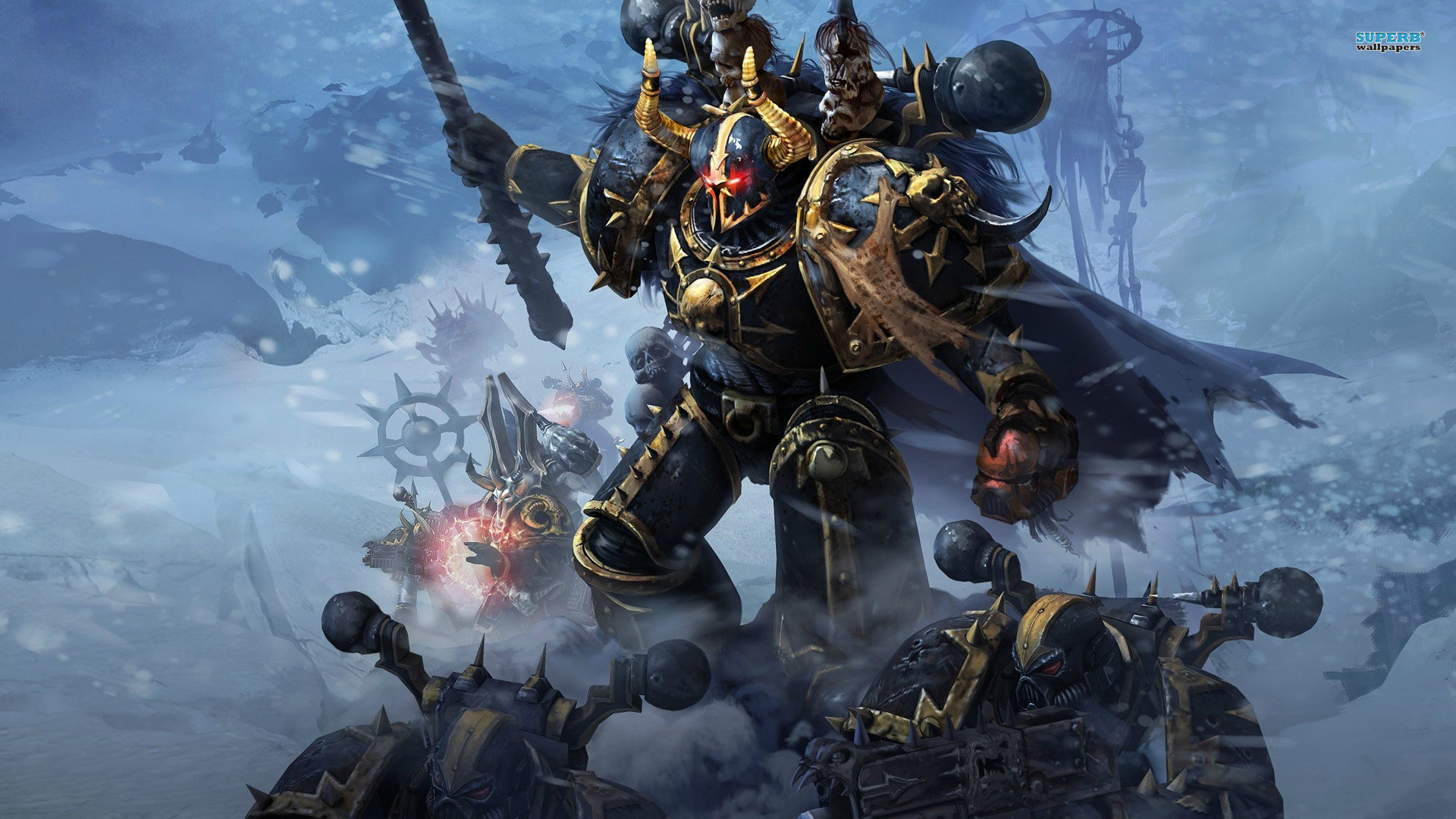 Res: 1920x1080, Chaos Space Marine Wallpaper