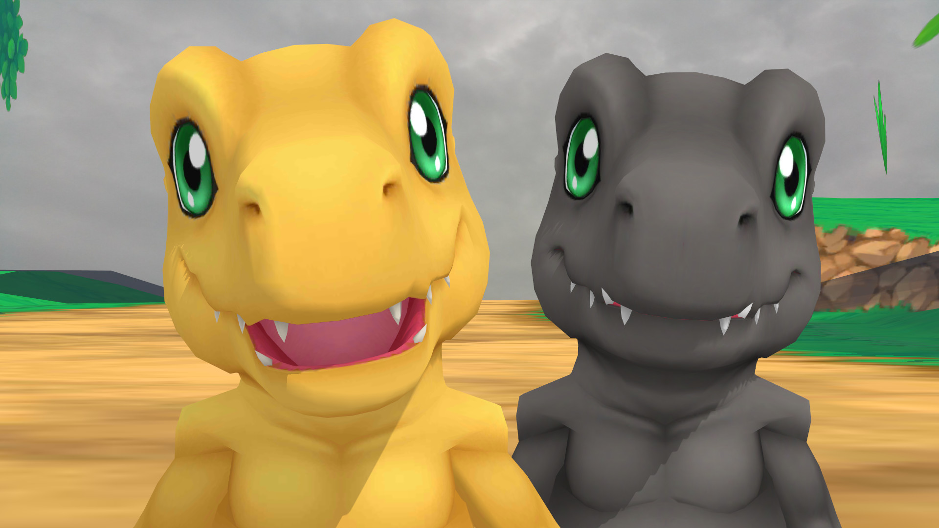 Res: 1920x1080, ... GuilTronPrime Agumon (Cyber Sleuth) polished by GuilTronPrime