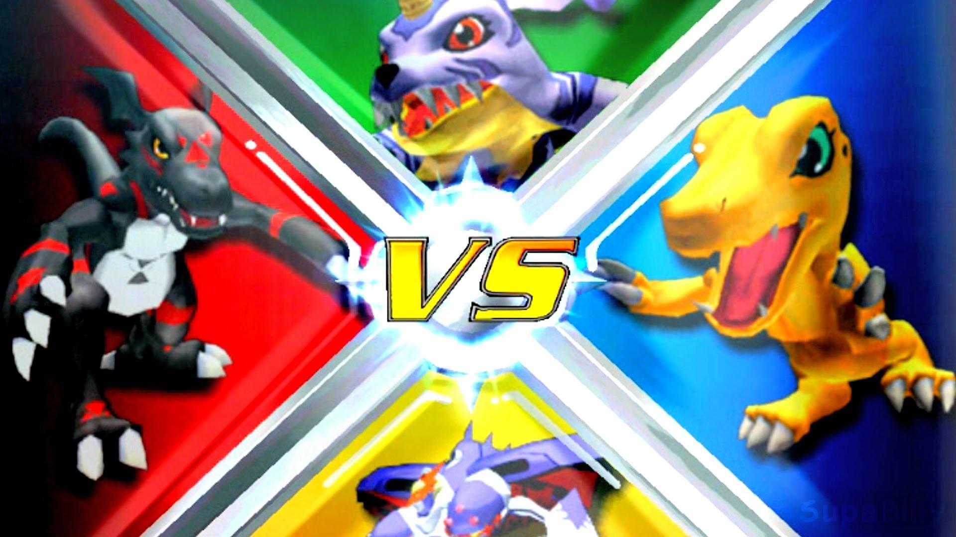 Res: 1920x1080, Blackguilmon vs Agumon vs Gabumon vs Malomyotismon [Rumble Arena 2]