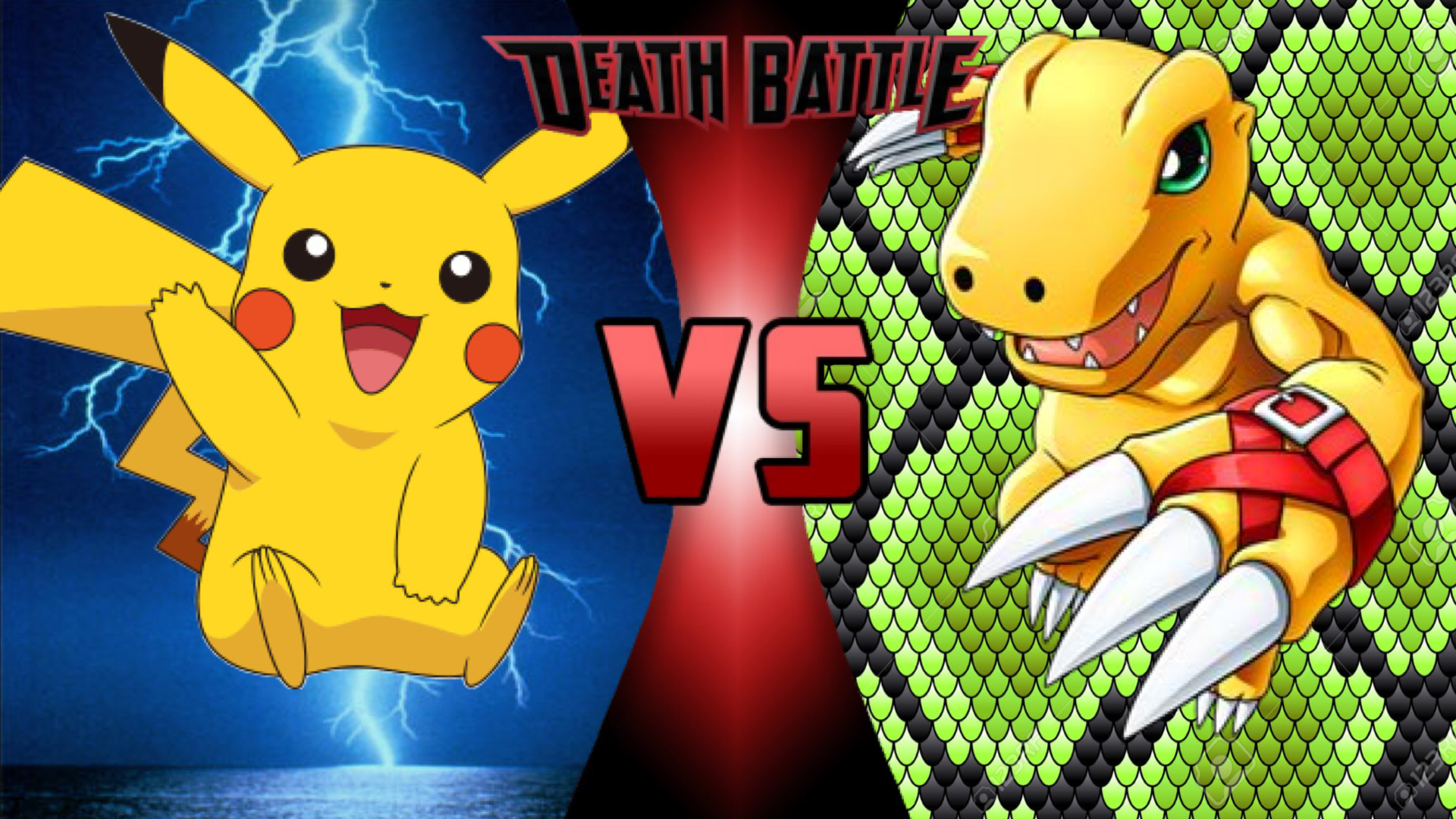 Res: 1920x1080, NOTE: In this battle Agumon won't digivolve into Greymon trainers will be  included and I will be using Red's Pikachu in the fight