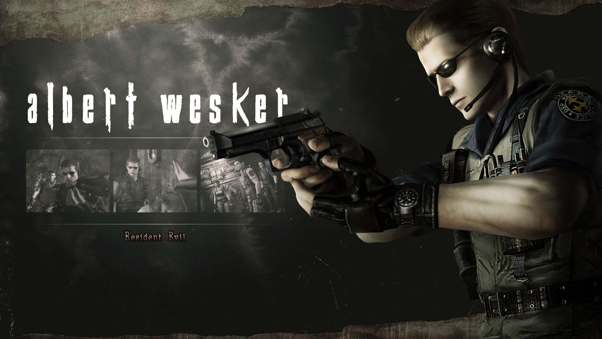 Res: 1920x1080, Albert Wesker from the game Resident Evil HD Remaster