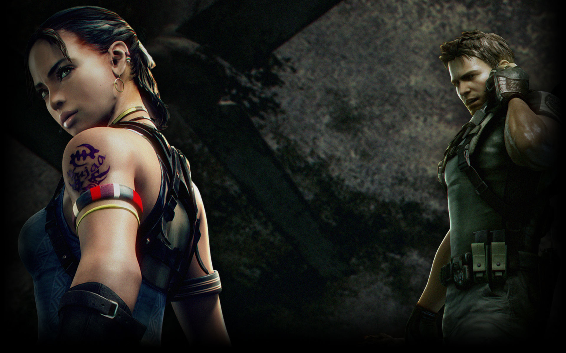 Res: 1920x1200, Resident Evil 5 images Chris and Sheva HD wallpaper and background photos
