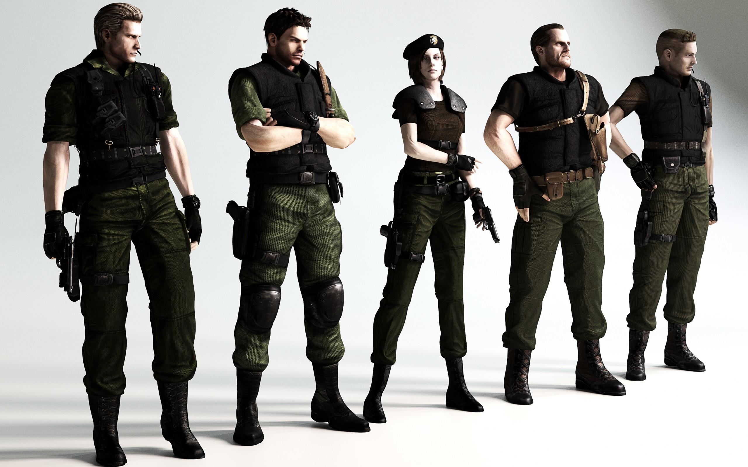 Res: 2560x1600, Resident evil 6 Resident Evil Chris Redfield biohazard 6 fan art Albert  Wesker Jill Valentine Richard Aiken Barry Burton wallpaper |  |  82785 | ...