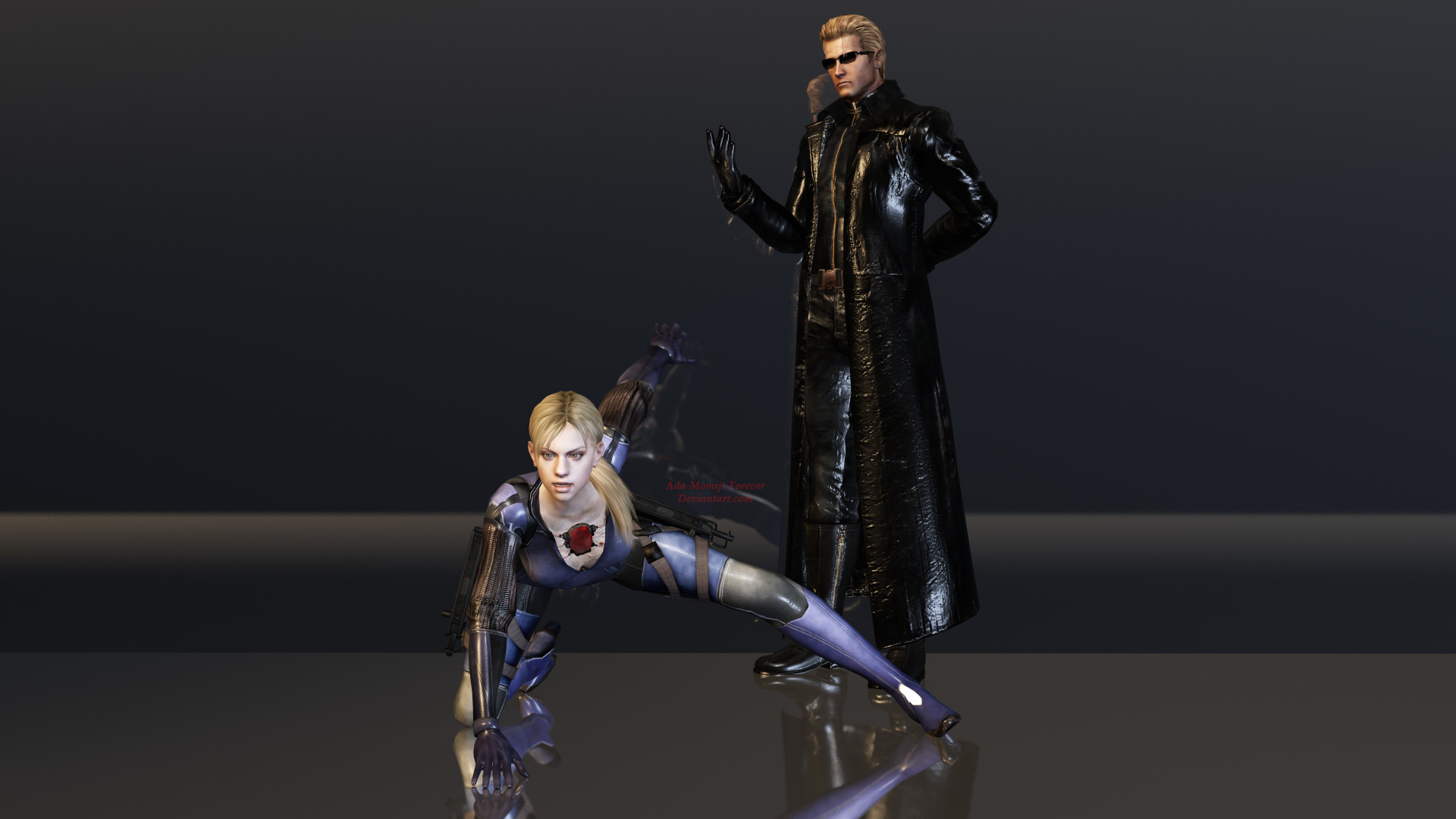Res: 1920x1080, ... Jill Valentine and Albert Wesker Render by Kunoichi-Supai