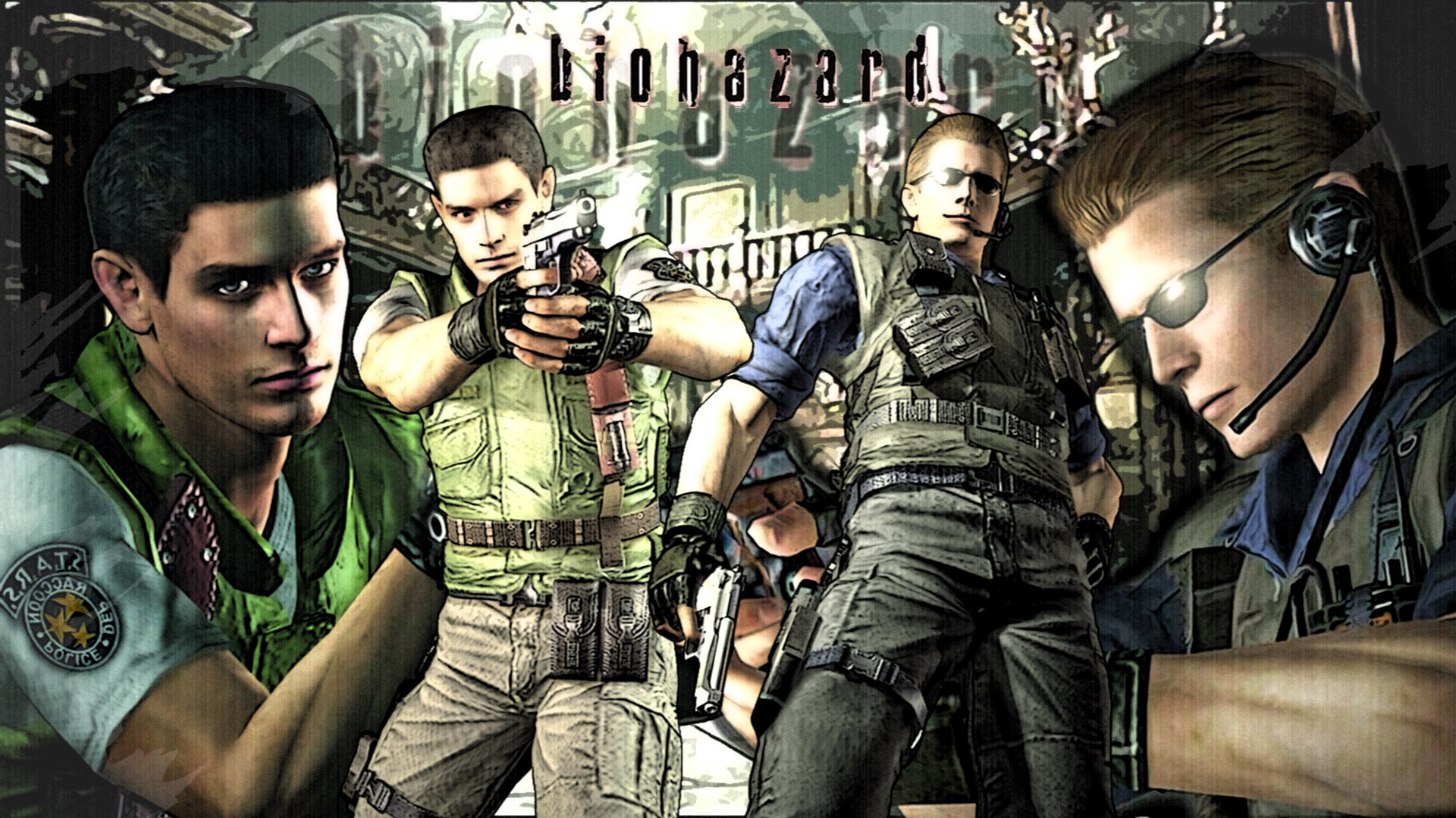Res: 1920x1080, S.T.A.R.S. Wesker and Chris by MusashiChan69 ...