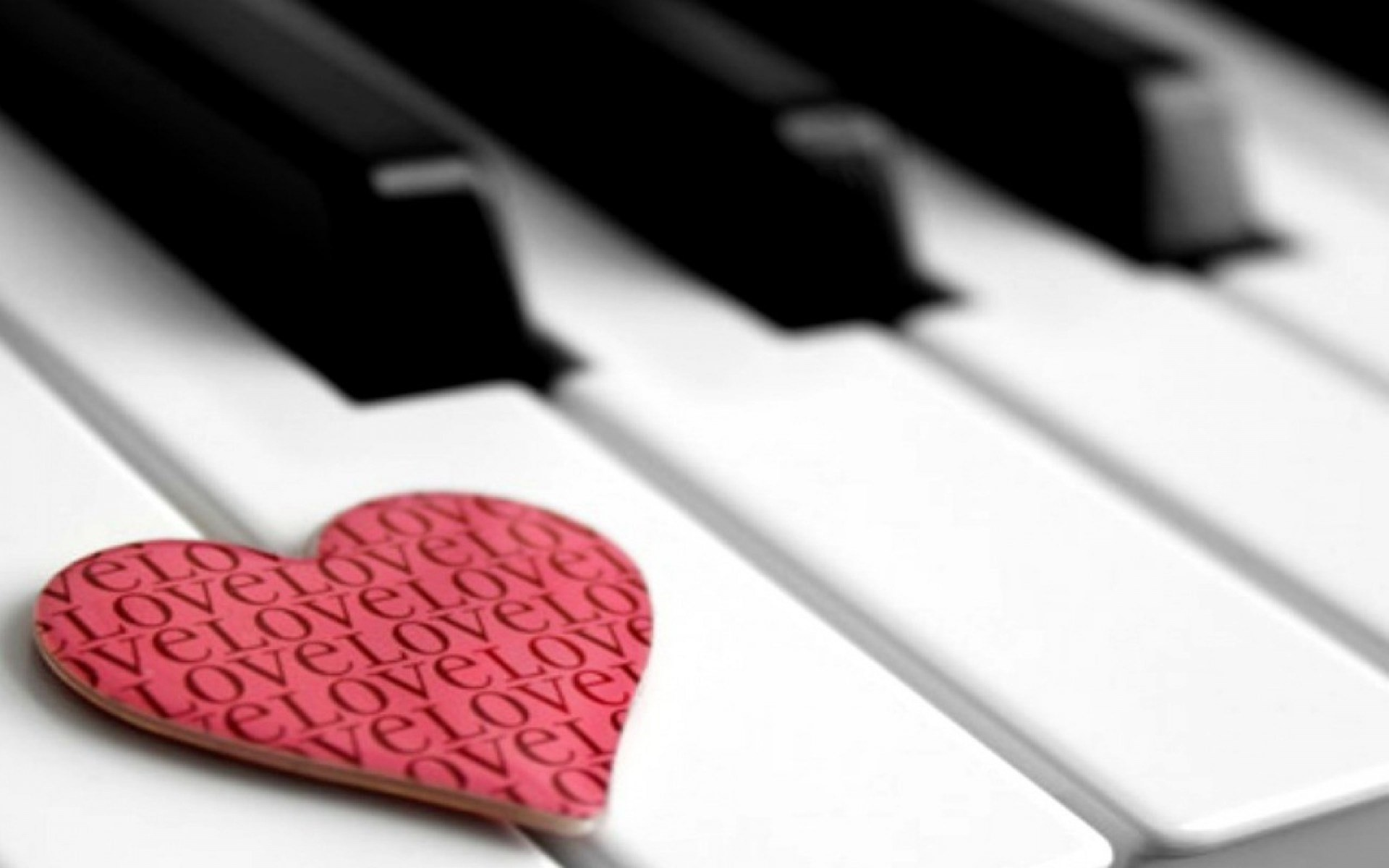 Res: 1920x1200, Music, Piano, Heart, Pink, Love - HD wallpapers