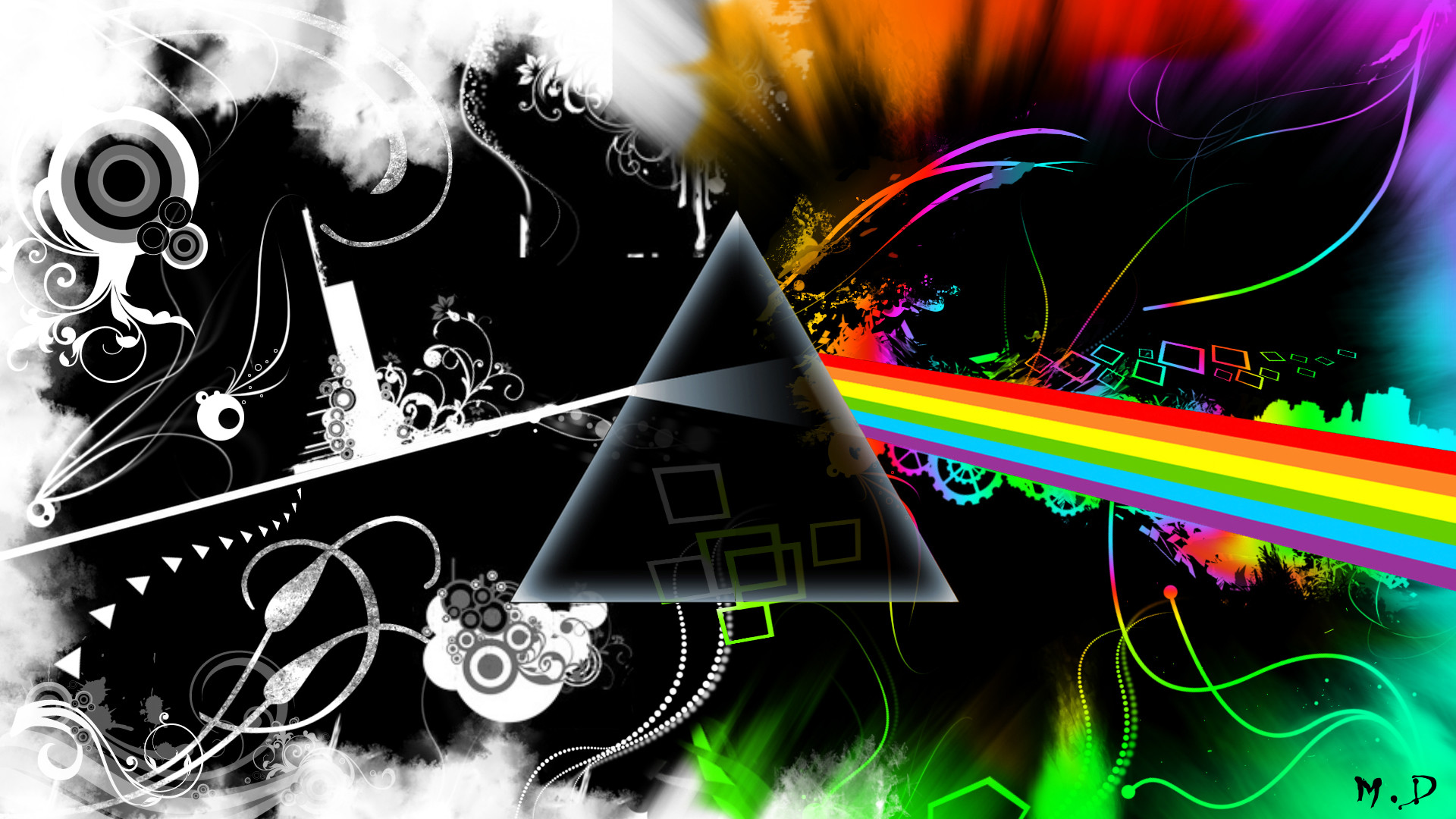 Res: 1920x1080, Wallpapers Music > Wallpapers Pink Floyd logo Pink Floyd Remix by -  Hebus.com