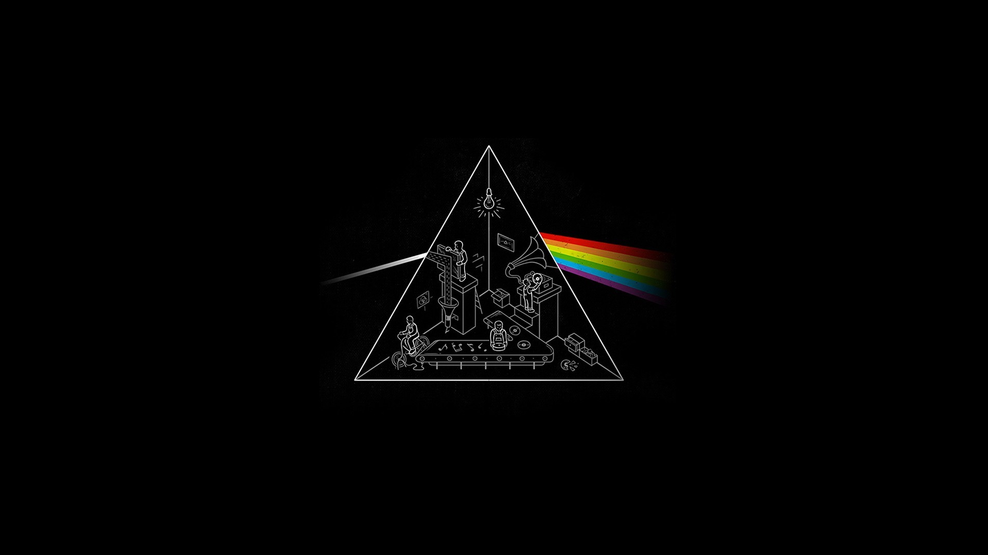 Res: 1920x1080, Music - Pink Floyd Heavy Metal Metal Hard Rock Dark Side Of The Moon Black  Wallpaper